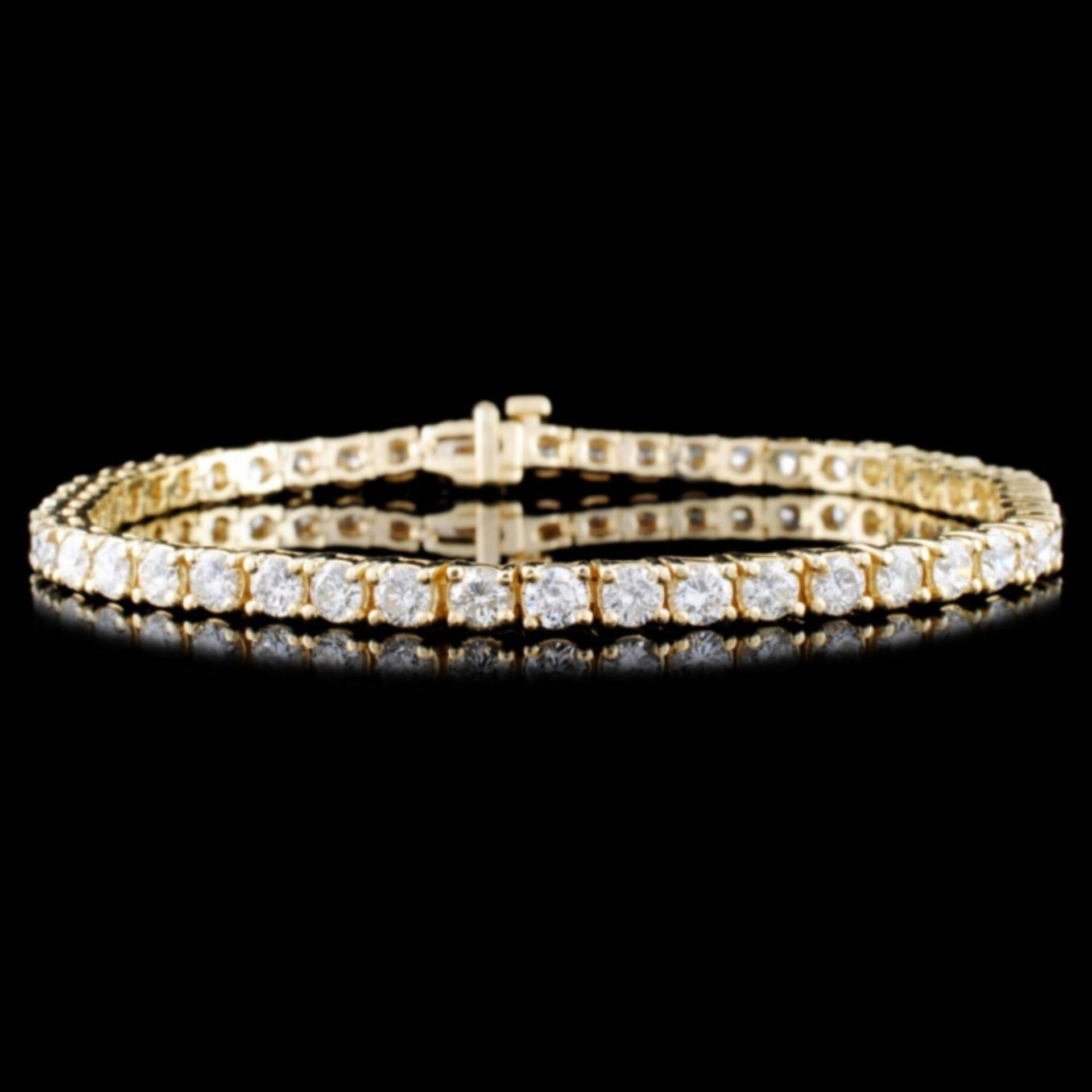 14K Gold 5.16ctw Diamond Bracelet