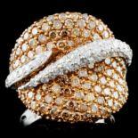 14K Gold 3.95ctw Fancy Diamond Ring