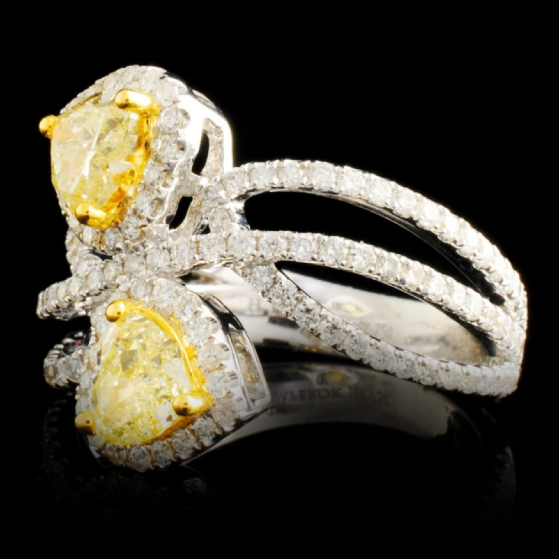 18K Gold 1.96ctw Diamond Ring - Image 2 of 5