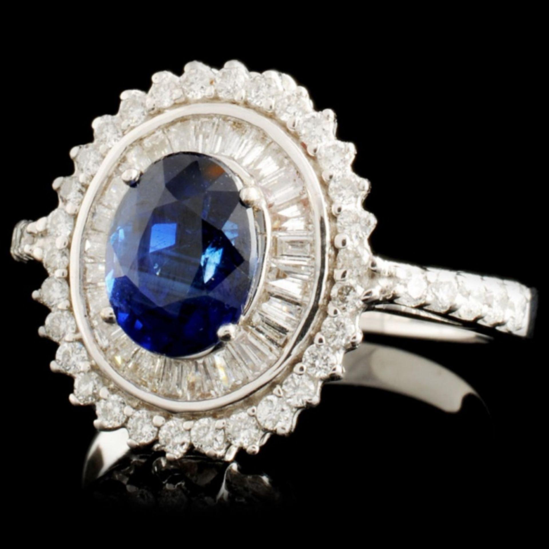 18K Gold 1.97ct Sapphire & 0.78ctw Diamond Ring - Image 2 of 3