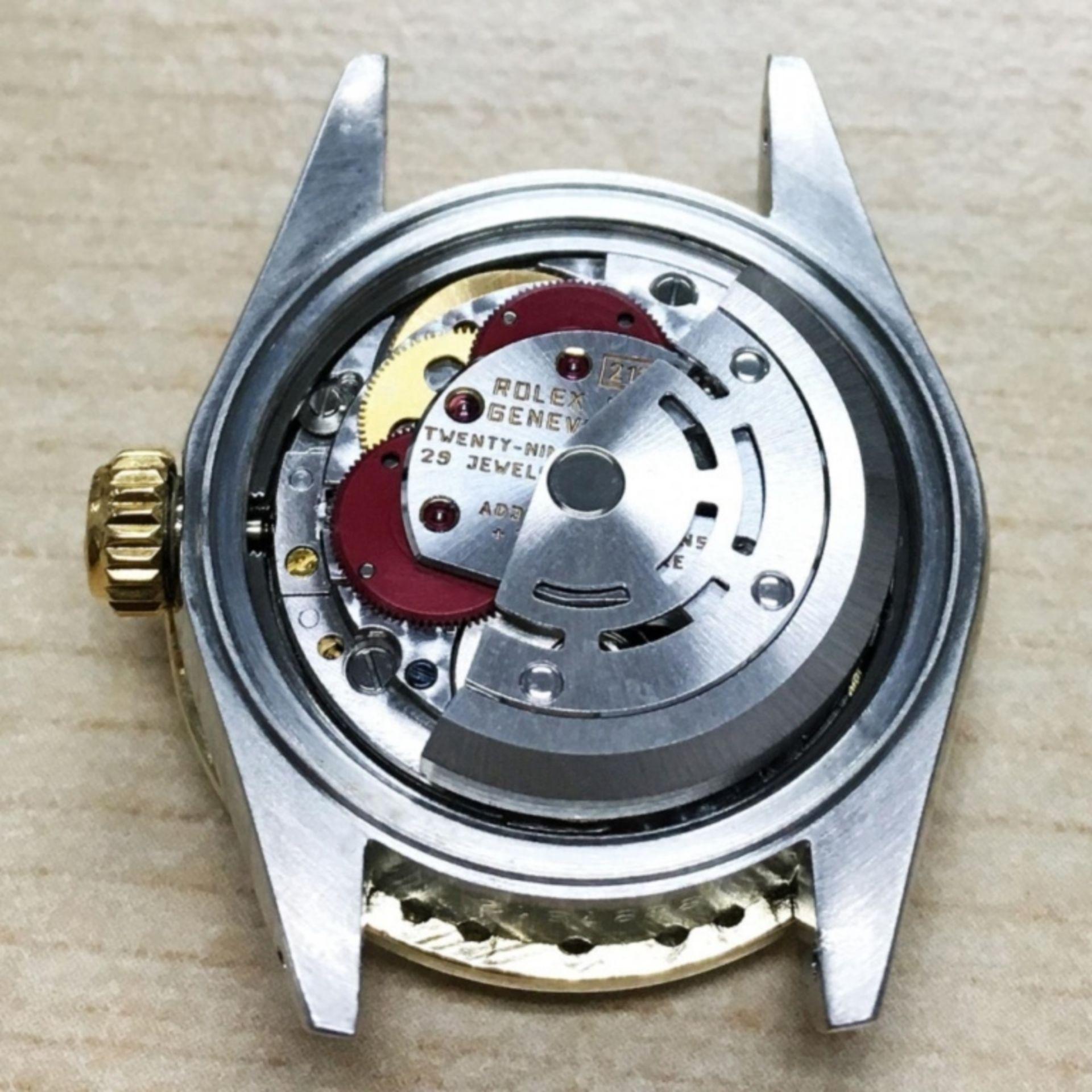 Rolex DateJust 18K & SS 1.00ct Diamond Blue Vignet - Image 3 of 8