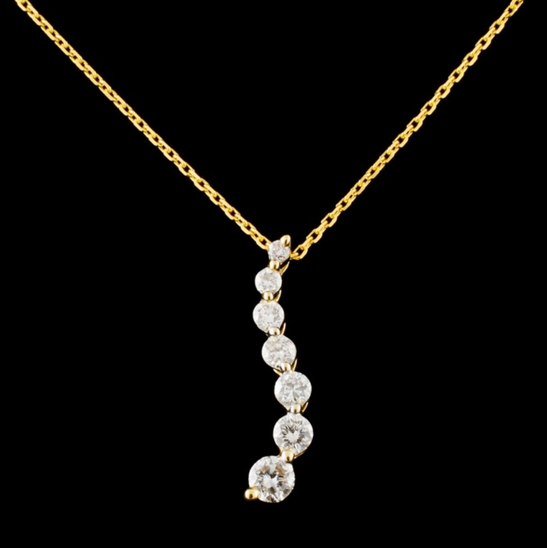 14K Gold 0.28ctw Diamond Pendant