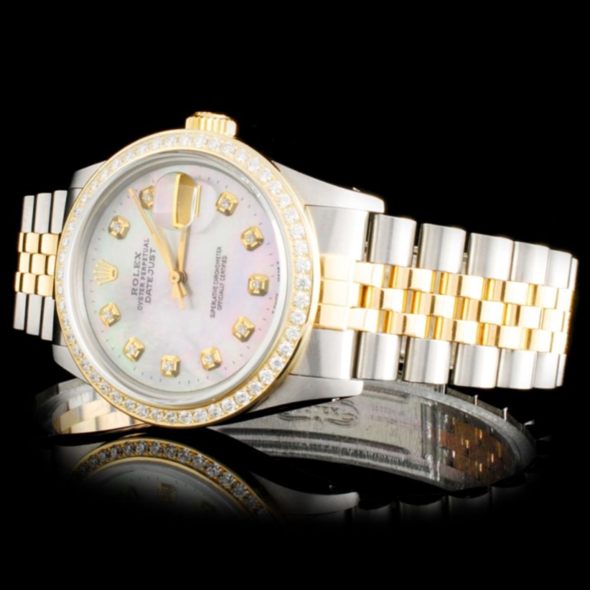 Rolex YG/SS 36MM DateJust Diamond Watch - Image 2 of 5