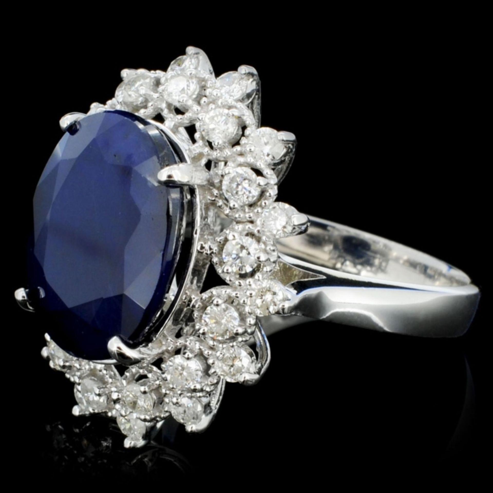 14K Gold 7.00ct Sapphire & 1.00ctw Diamond Ring - Image 3 of 4