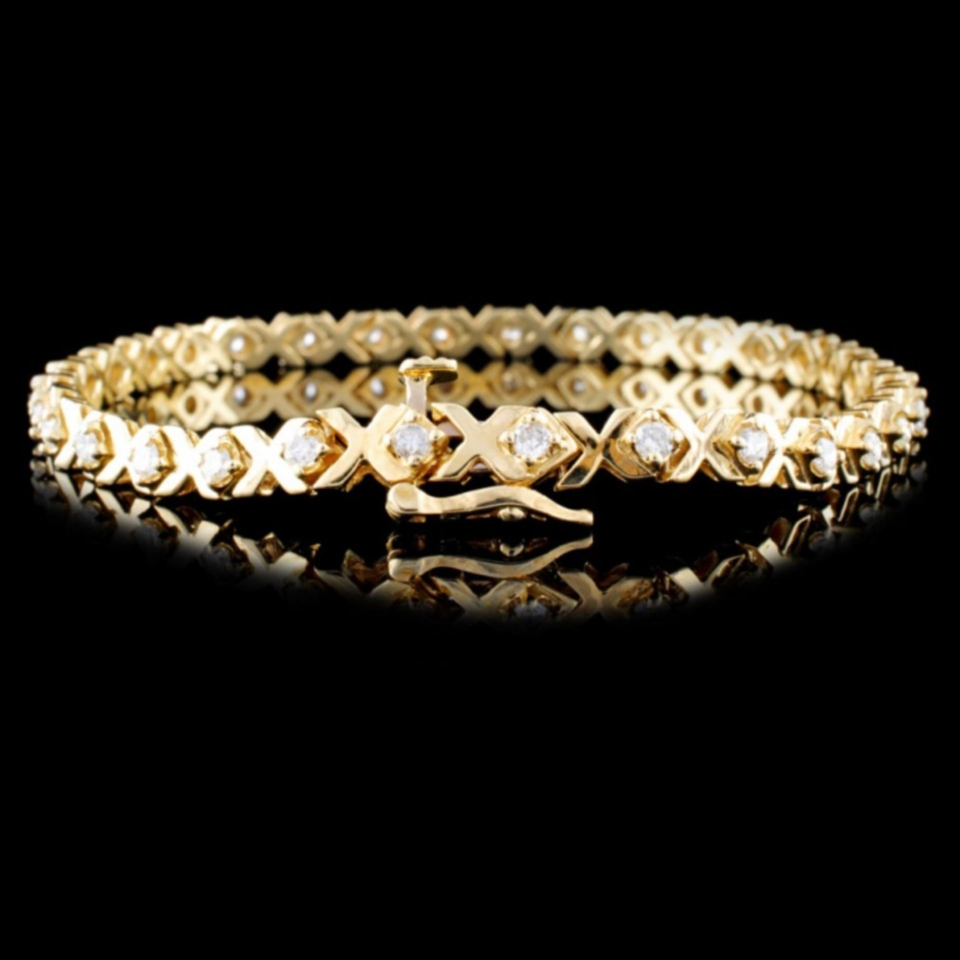 14K Yellow Gold 1.00ct Diamond Bracelet - Image 2 of 3