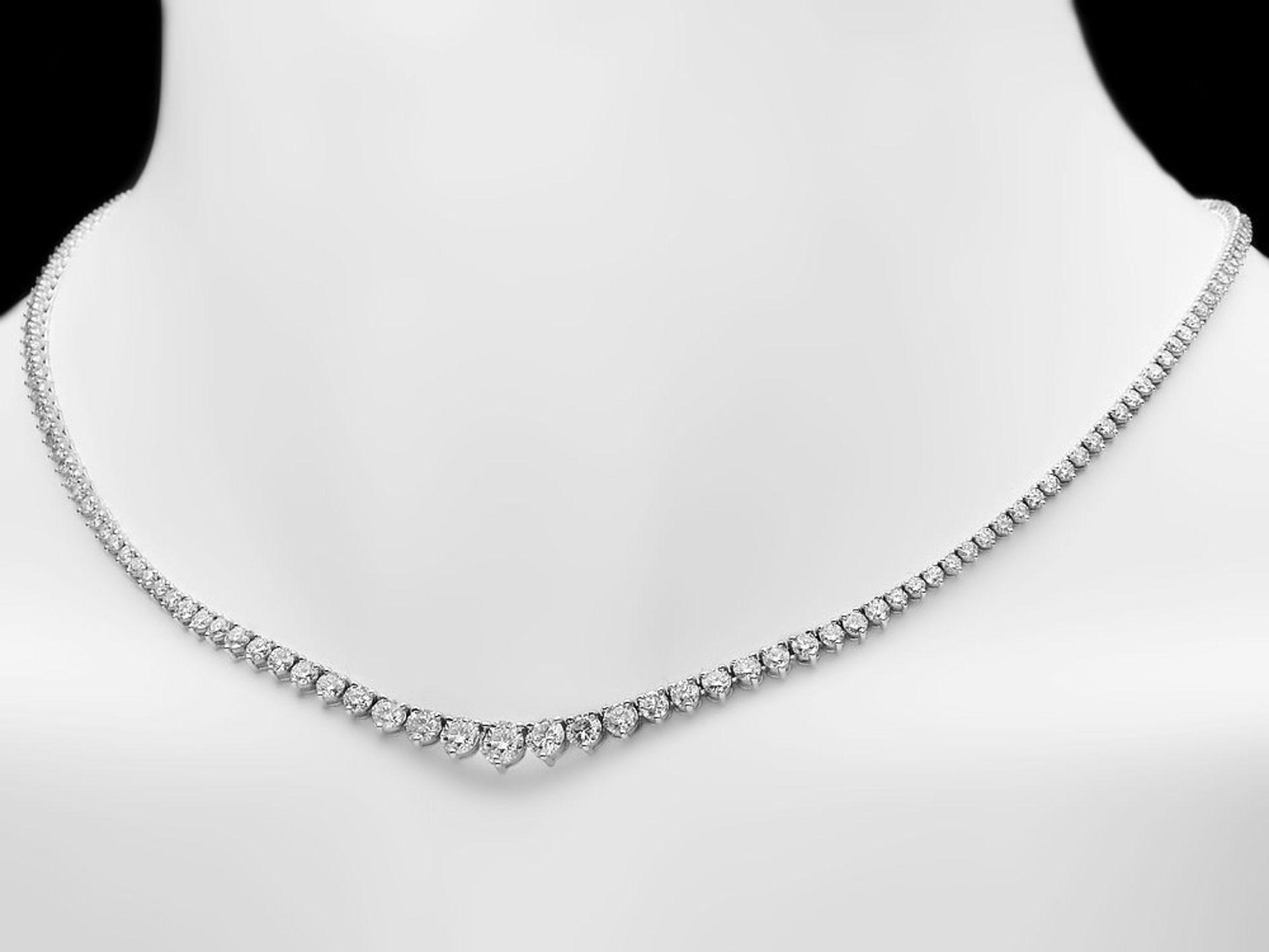 18k White Gold 9.50ct Diamond Necklace - Image 2 of 5