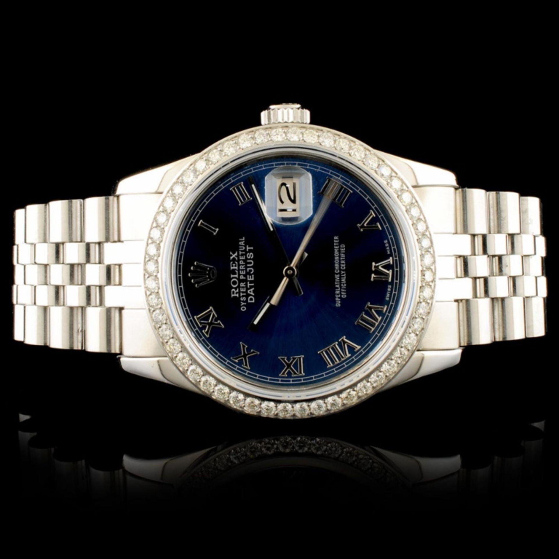 Rolex DateJust 1.35ct Diamond 36MM Wristwatch - Image 2 of 4