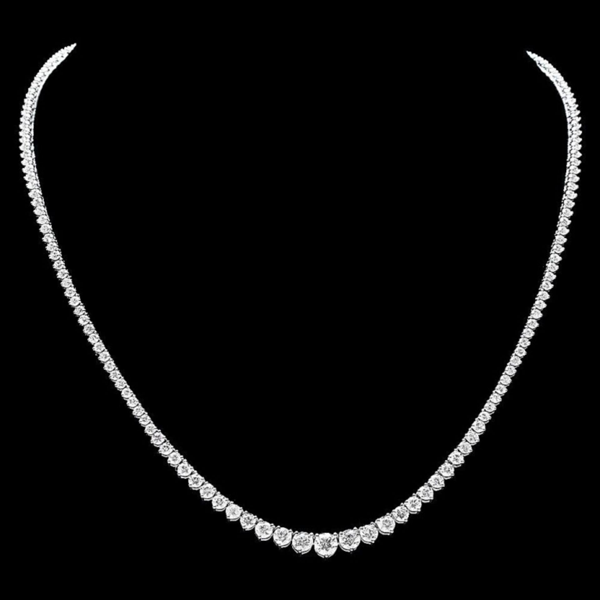 18k White Gold 12.00ct Diamond Necklace