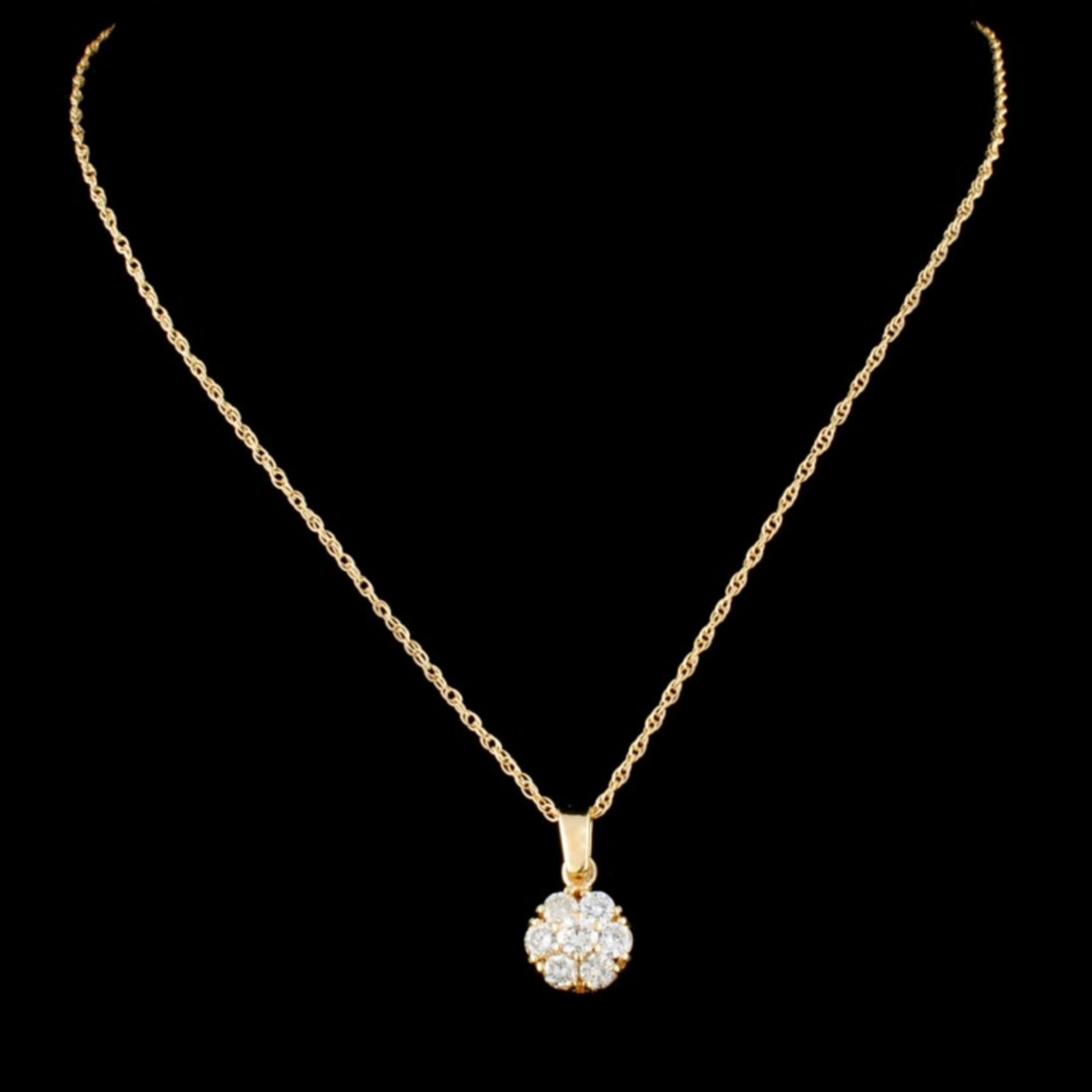 14K Gold 0.44ctw Diamond Pendant - Image 2 of 4