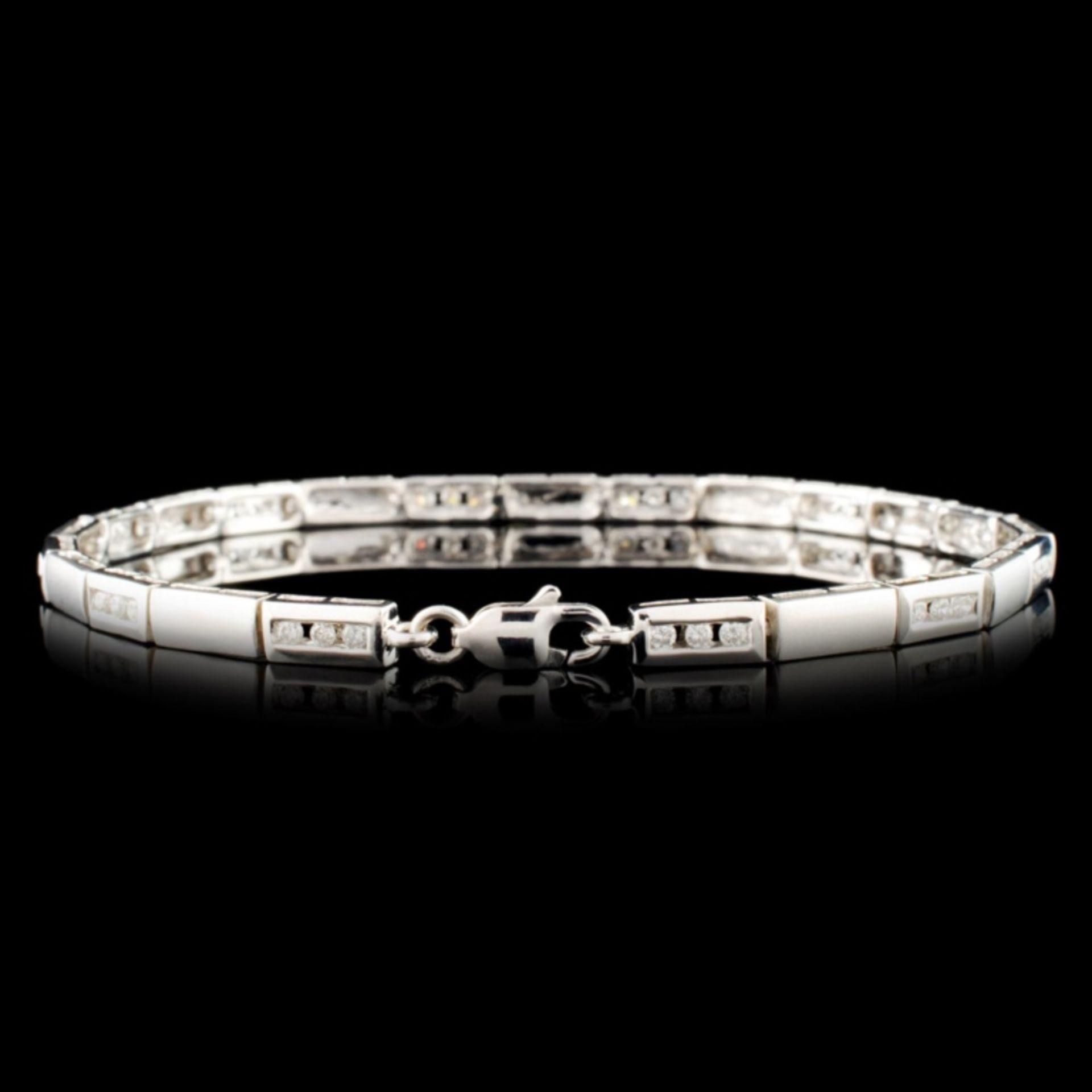 14K Gold 0.38ctw Diamond Bracelet - Image 2 of 4