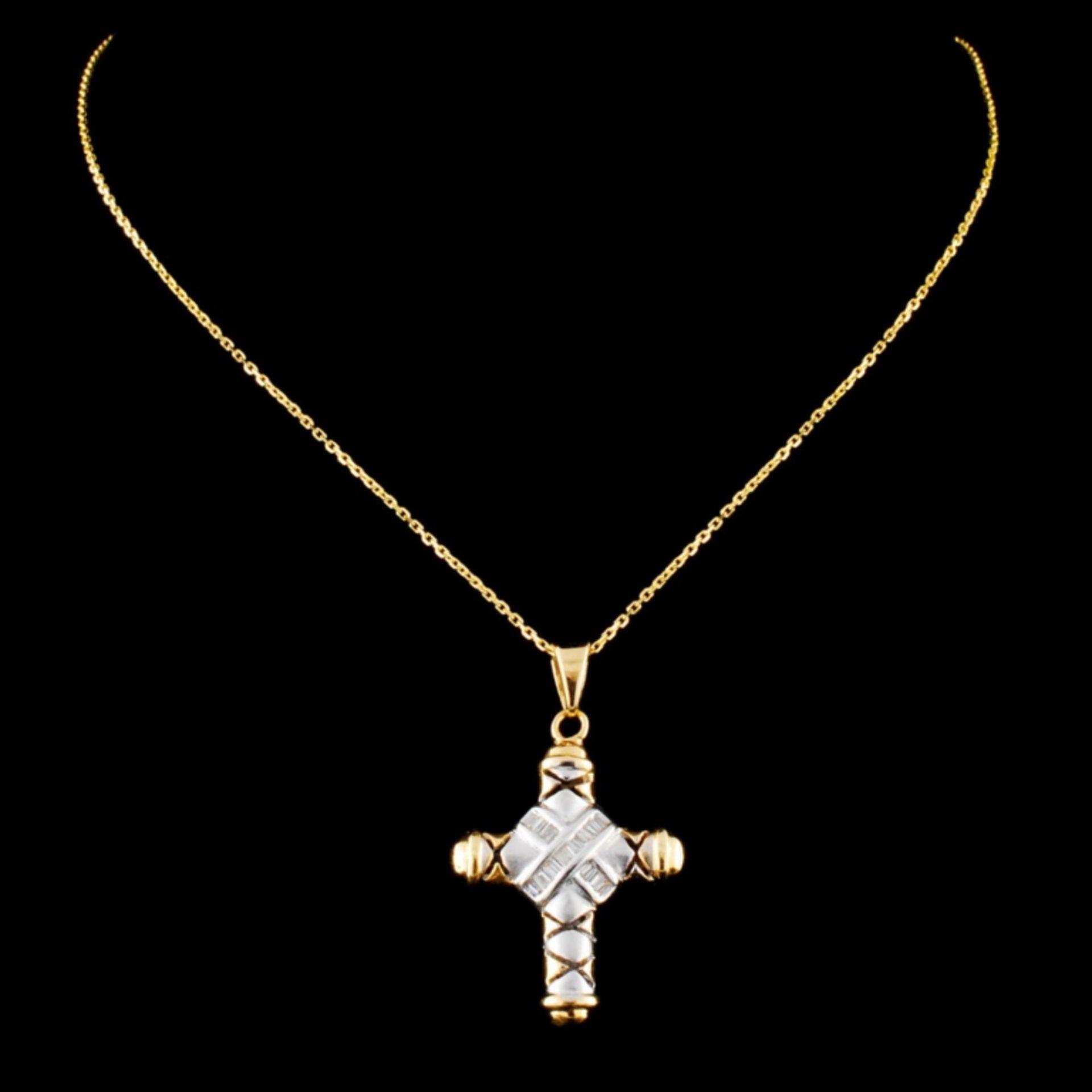 14K Gold 0.27ctw Diamond Pendant - Image 2 of 4