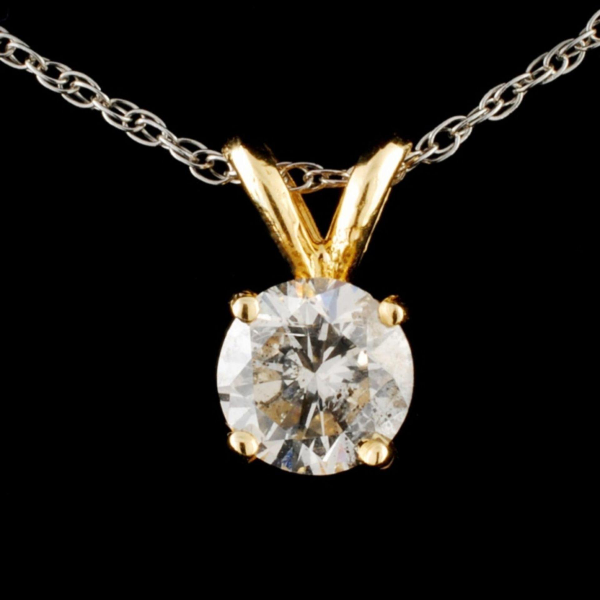 14K Gold 0.67ctw Diamond Pendant