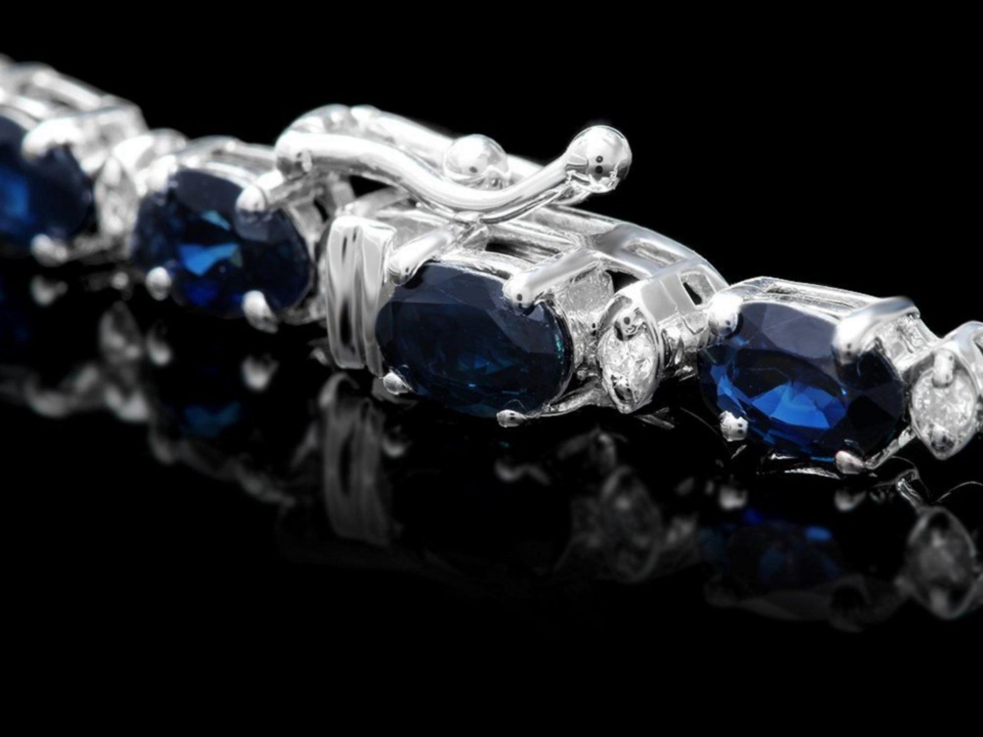 `14k Gold 25.00ct Sapphire & 1.00ct Diamond Neckla - Image 4 of 5