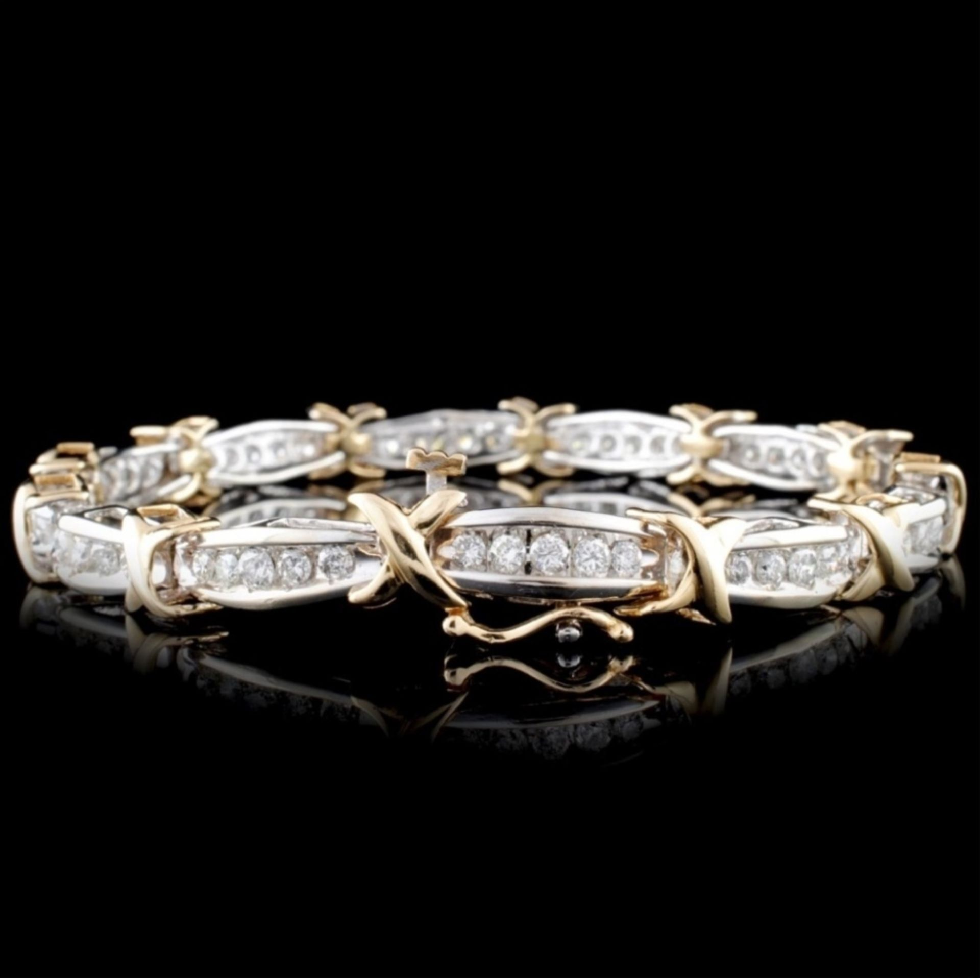 14K Two-Tone 2.68ctw Diamond Bracelet - Image 2 of 3