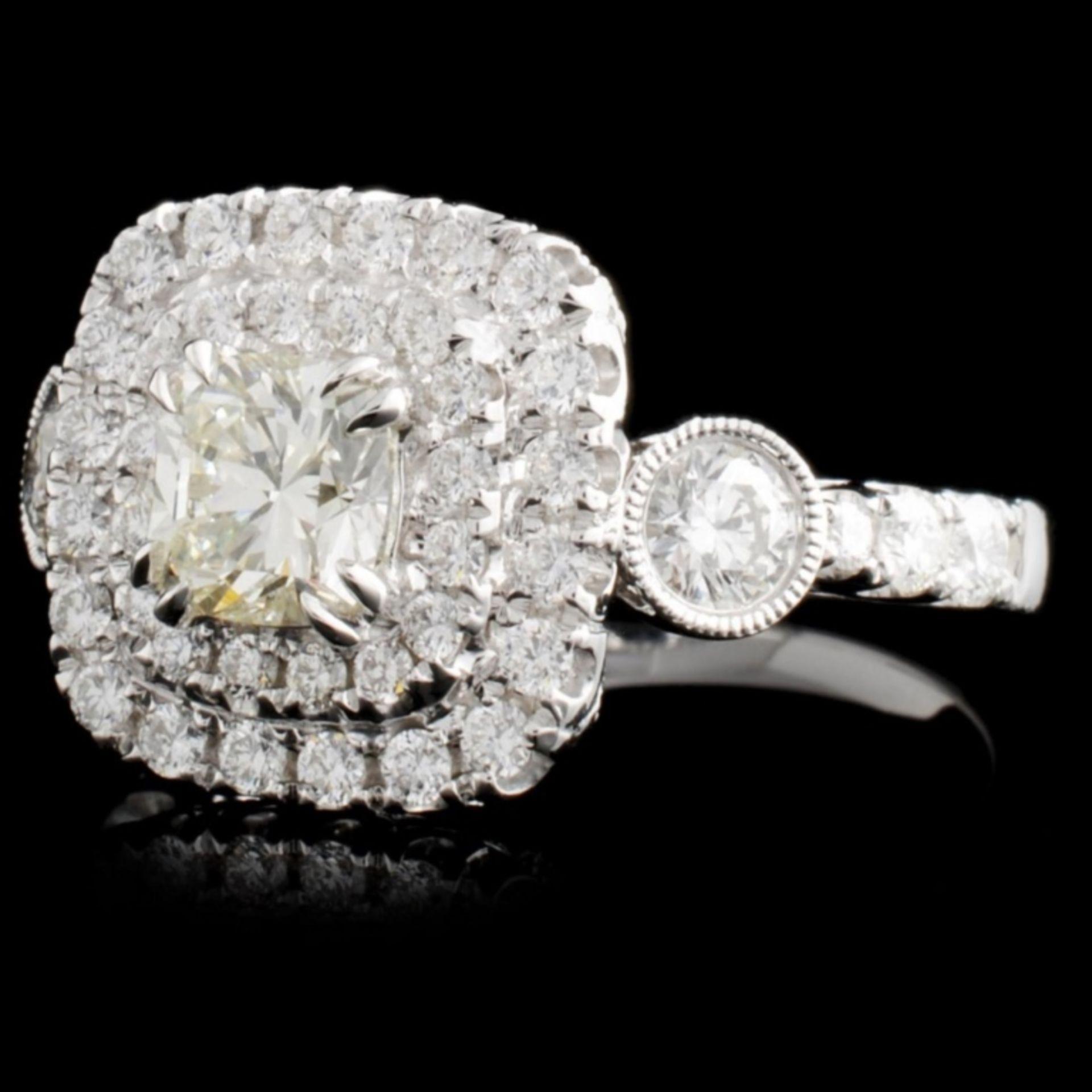 18K White Gold 1.60ctw Diamond Ring - Image 2 of 4
