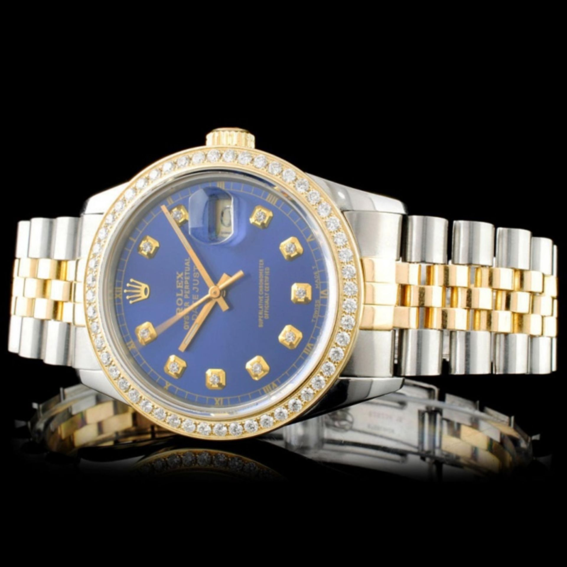 Rolex YG/SS DateJust Diamond 36MM Watch - Image 2 of 5