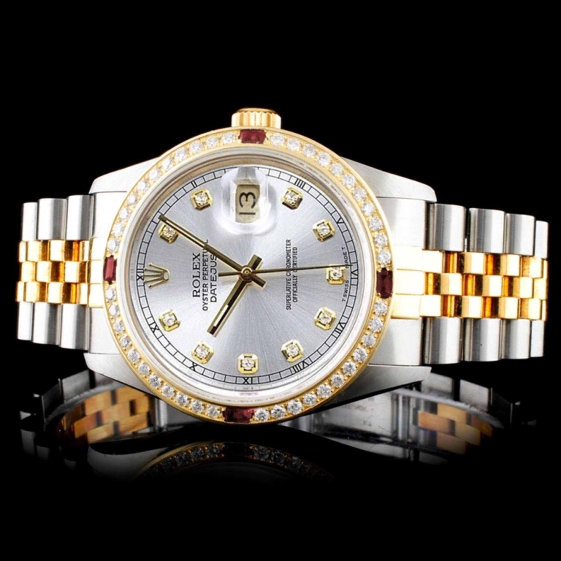 Rolex DateJust 18K/SS Diamond 36mm Watch - Image 2 of 6