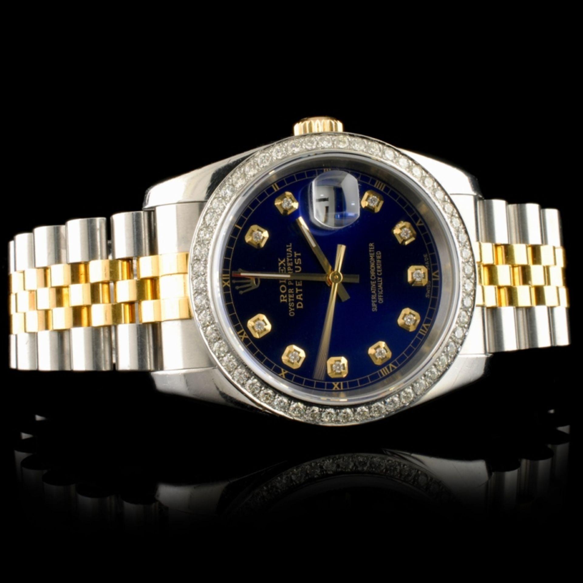 Rolex DateJust 116233 18K YG/SS Diamond 36MM Watch - Image 3 of 7
