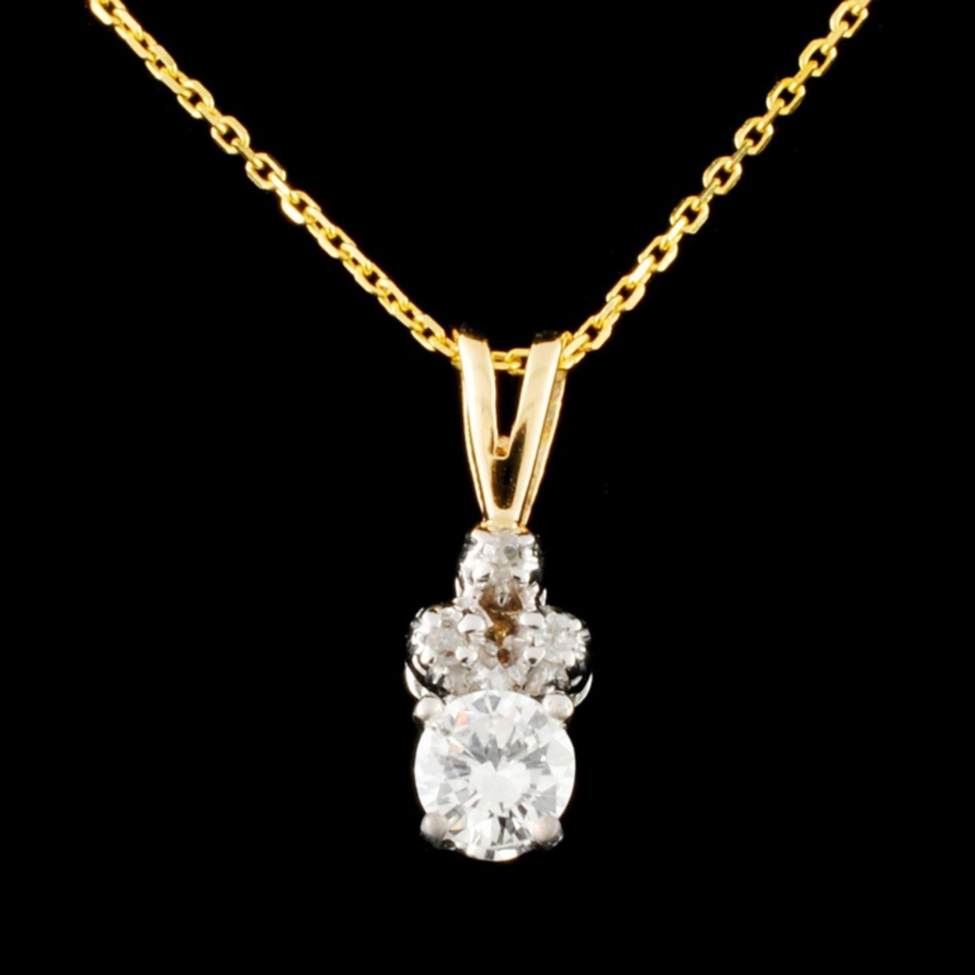 14K Gold 0.26ctw Diamond Pendant - Image 2 of 4