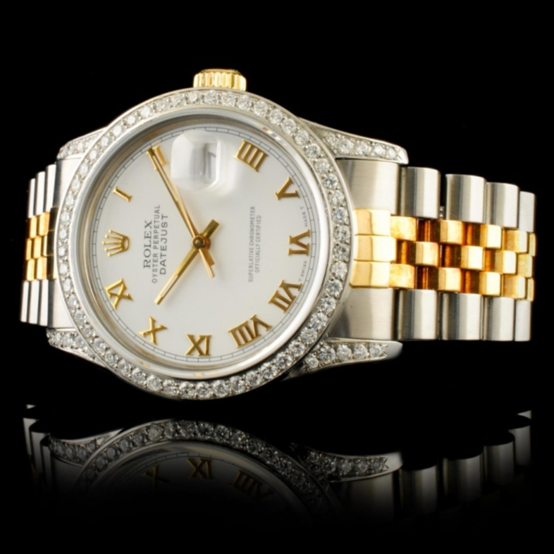 Rolex DateJust 1.50ctw Diamond 36MM Wristwatch - Image 2 of 5