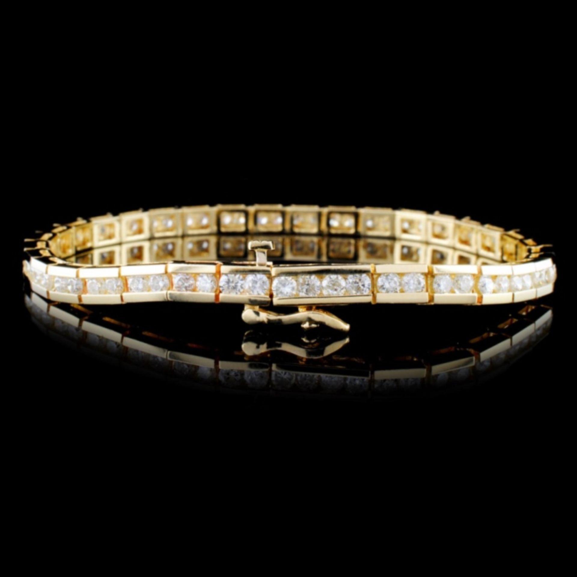 14K Yellow Gold 4.00ctw Diamond Bracelet - Image 2 of 3