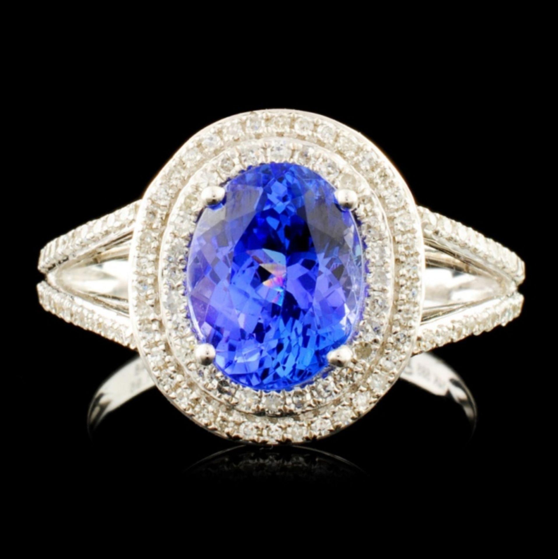 14K Gold 1.95ct Tanzanite & 0.48ctw Diamond Ring