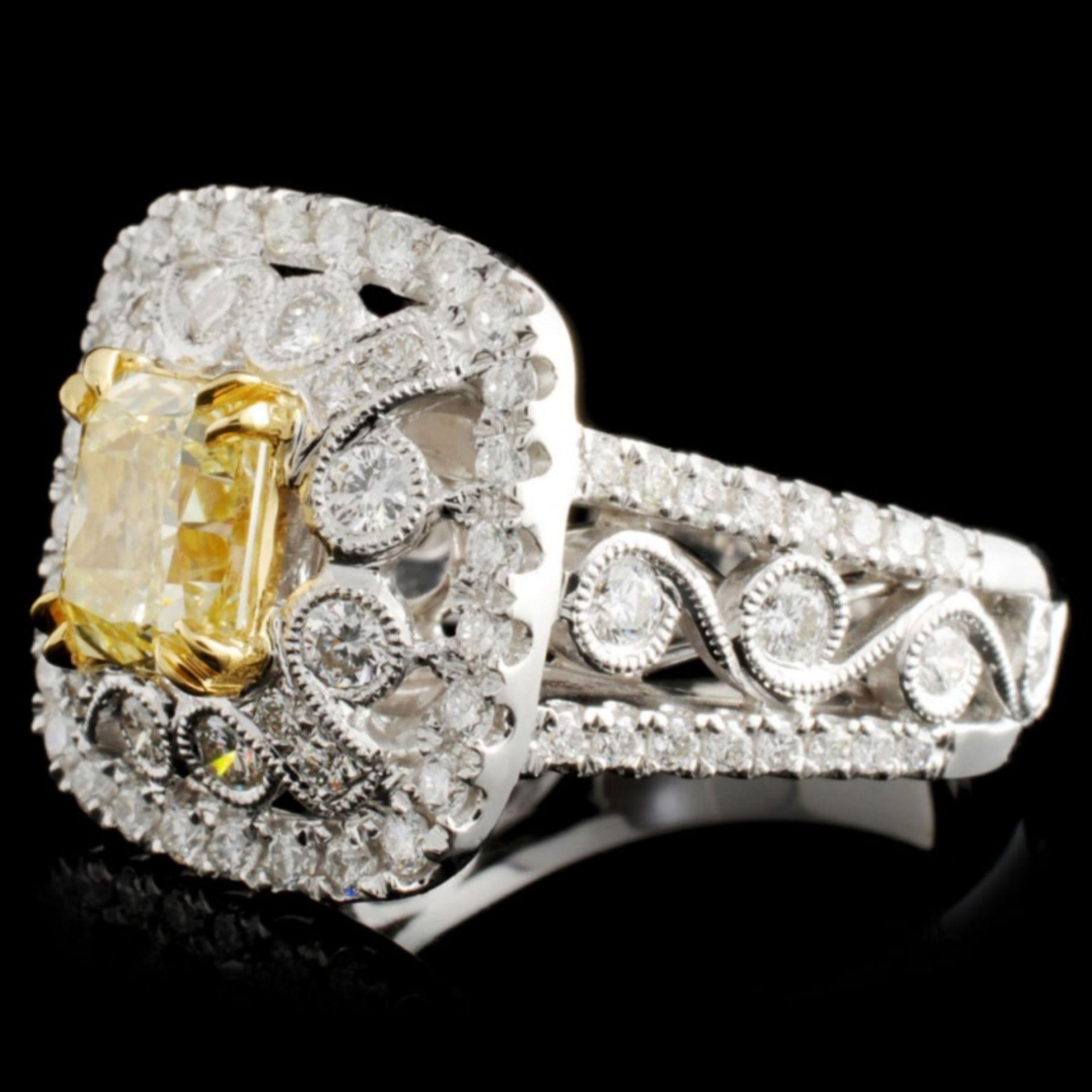 18K Gold 2.74ctw Fancy Diamond Ring - Image 2 of 4