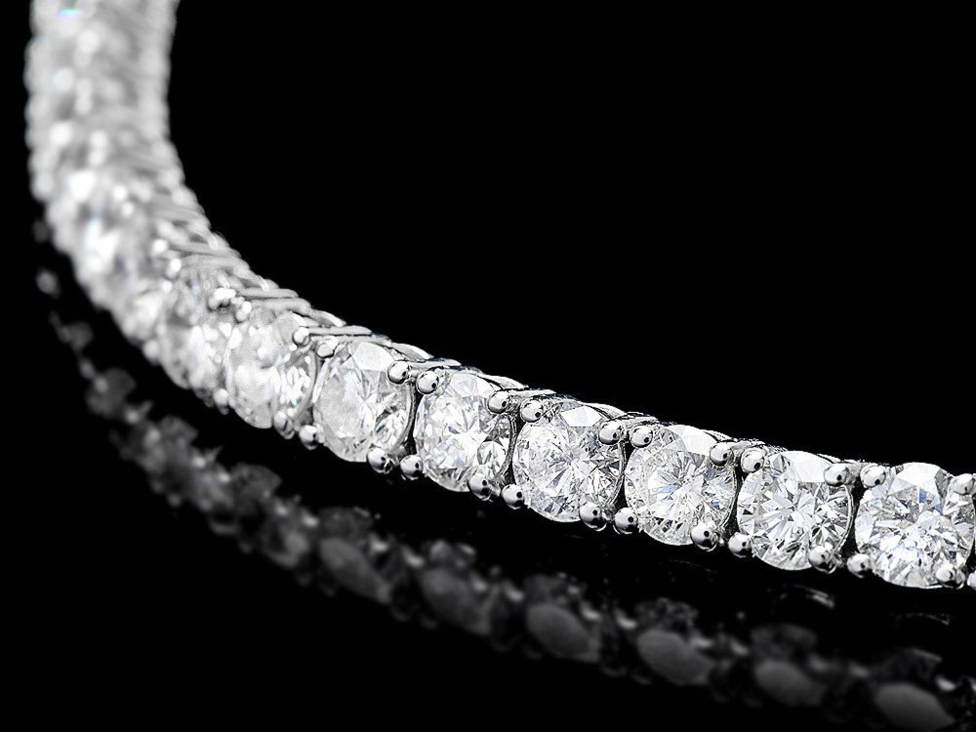 18k White Gold 8.00ct Diamond Bracelet - Image 2 of 4