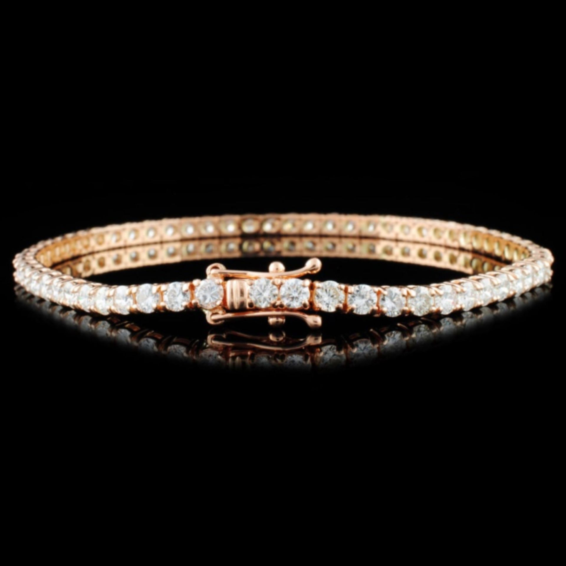 14K Gold 5.20ctw Diamond Bracelet - Image 2 of 3