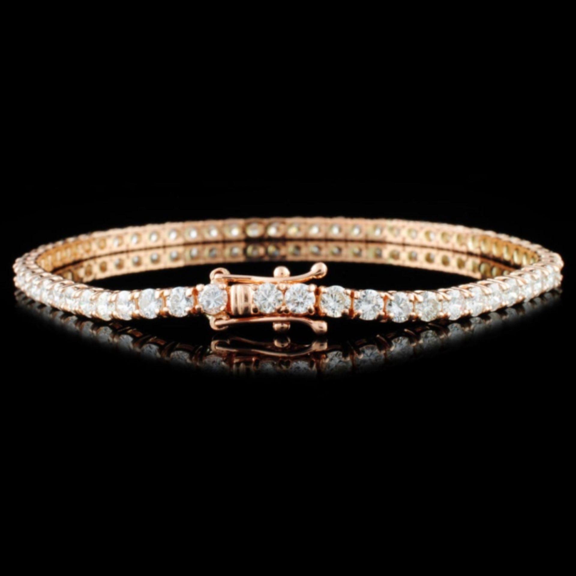 14K Gold 5.20ctw Diamond Bracelet - Image 2 of 3