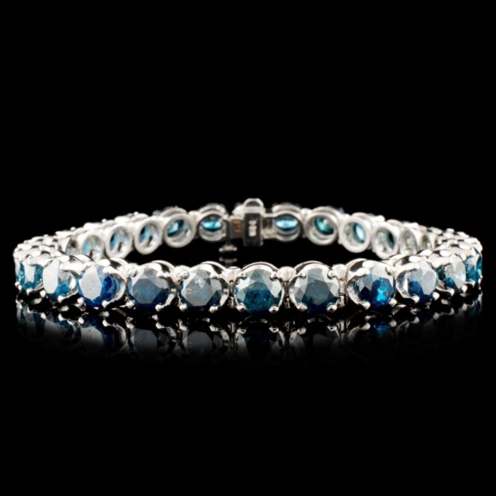 14K Gold 16.98ctw Tennis Diamond Bracelet