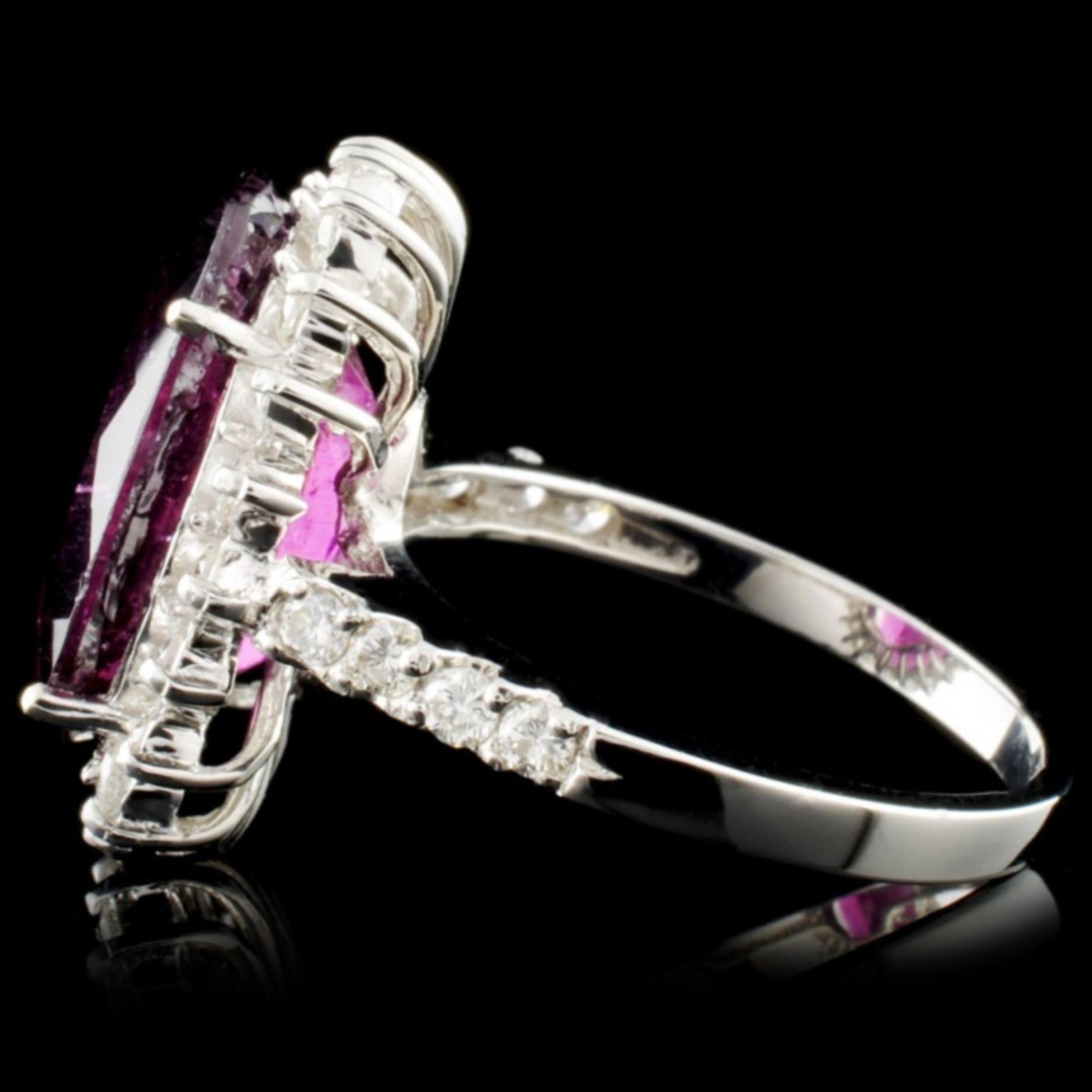 14K Gold 7.72ct Tourmaline & 0.81ctw Diamond Ring - Image 3 of 4