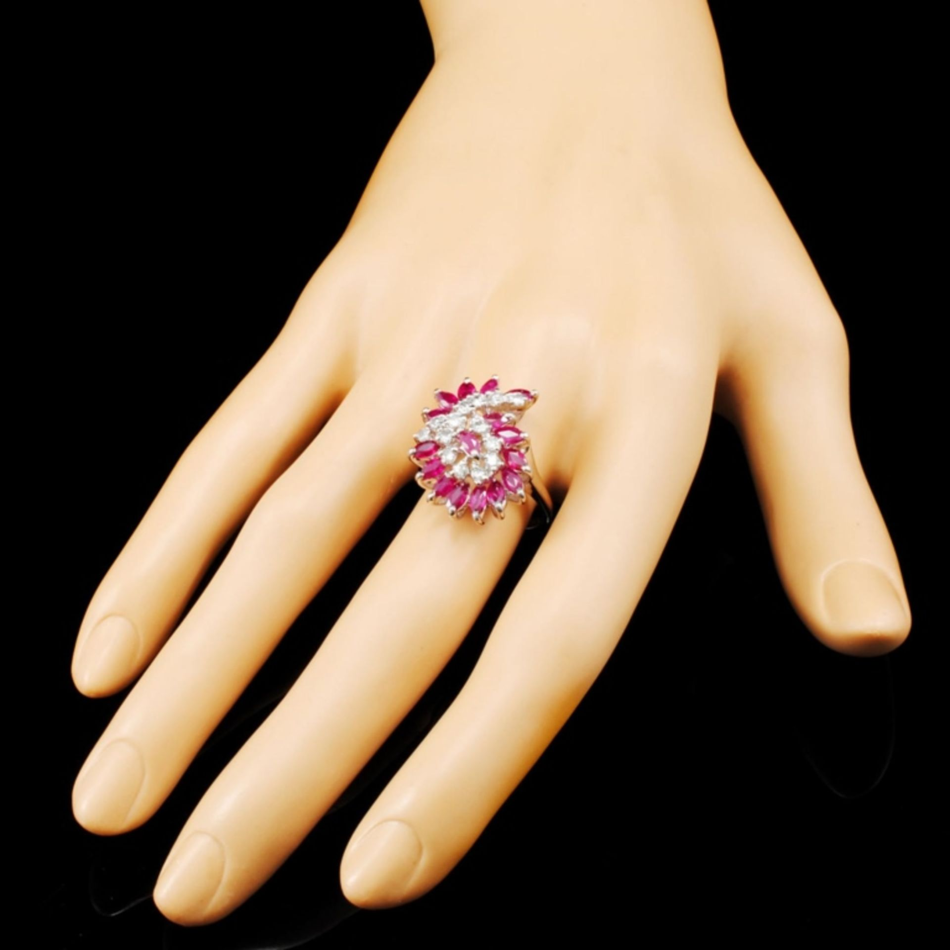 14K Gold 1.92ct Ruby & 0.35ctw Diamond Ring - Image 3 of 5