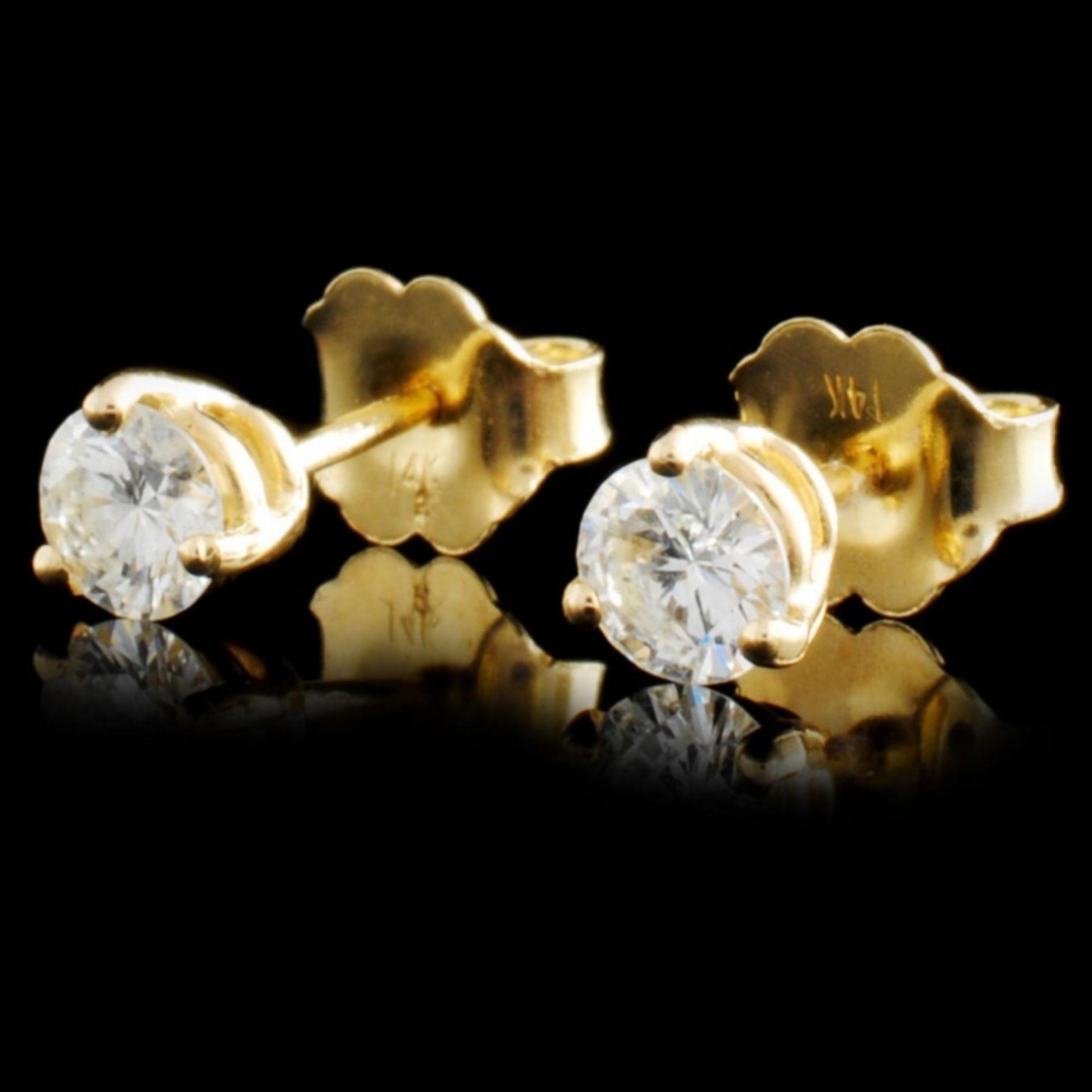 14K Gold 0.46ctw Diamond Earrings - Image 2 of 3