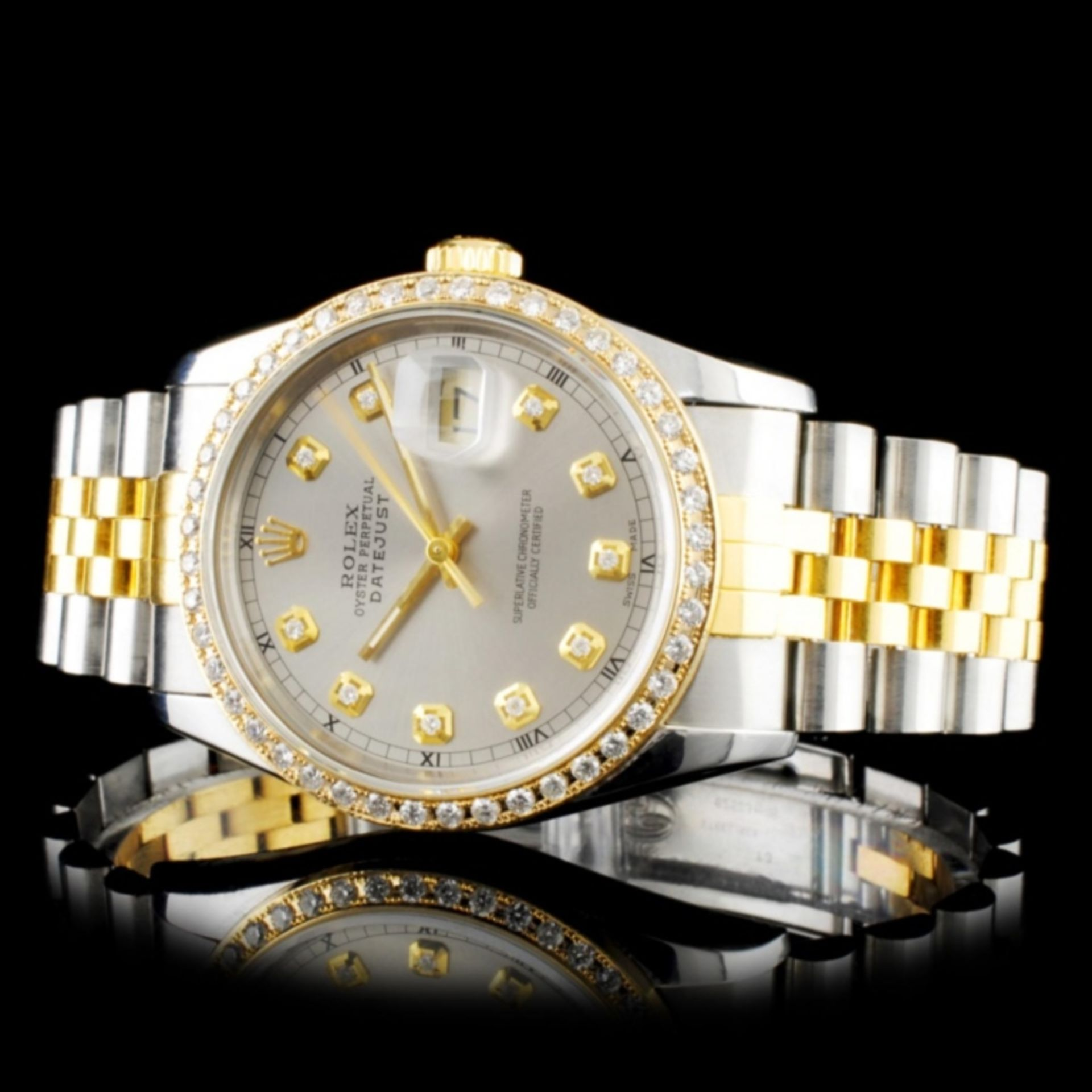 Rolex DateJust Diamond 36MM Wristwatch - Image 2 of 6