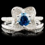 18K White Gold 1.52ctw Fancy Color Diamond Ring