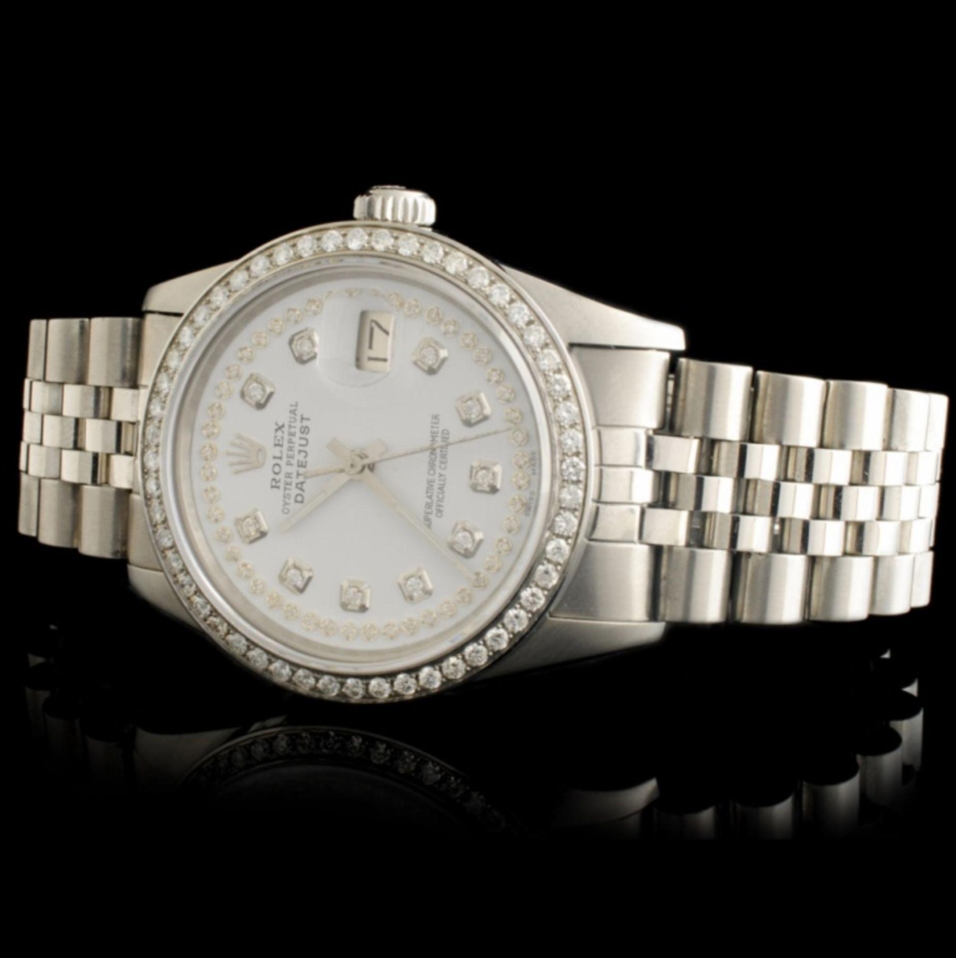 Rolex DateJust Diamond 36MM Wristwatch - Image 2 of 7
