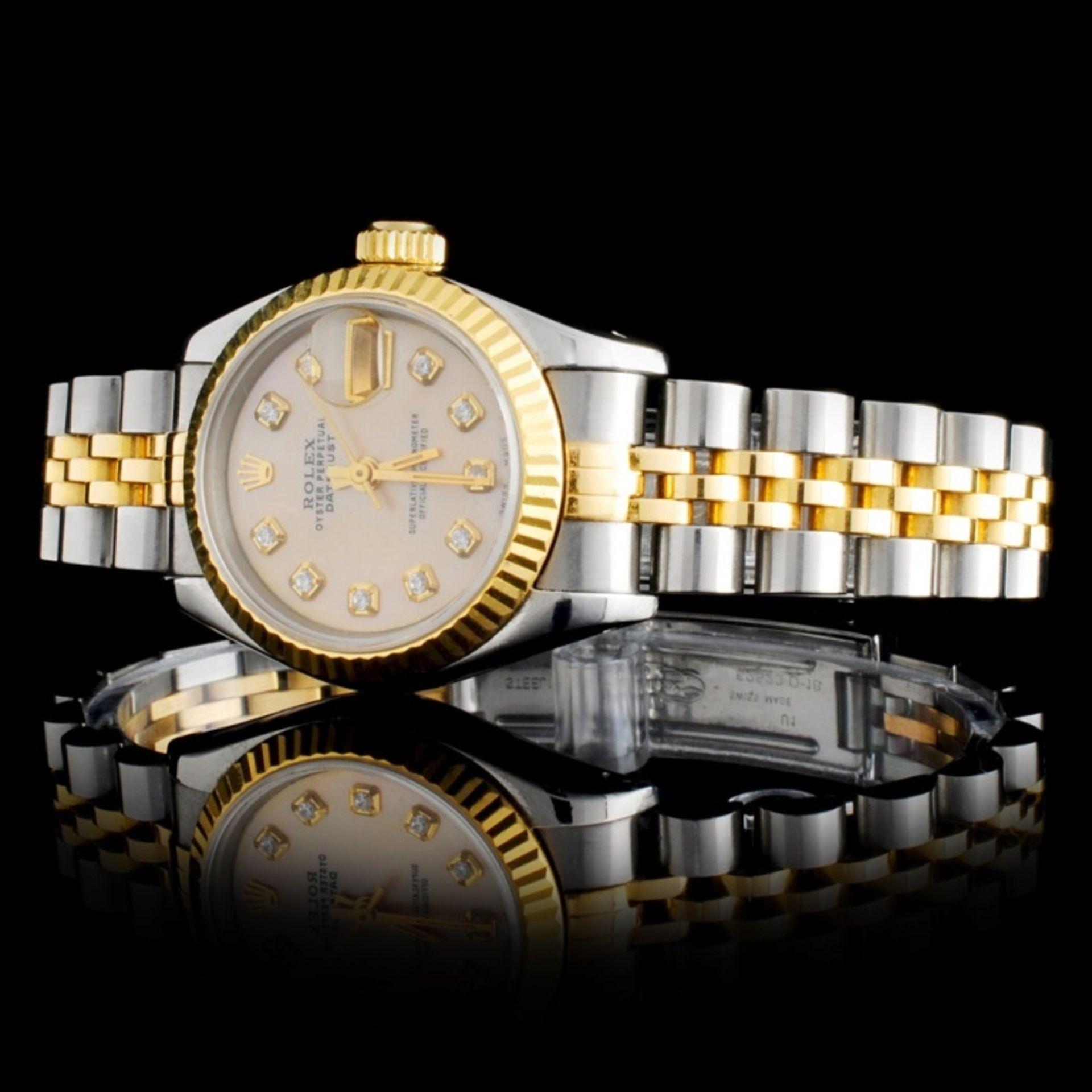 Rolex DateJust Ladies Diamond Wristwatch - Image 2 of 5