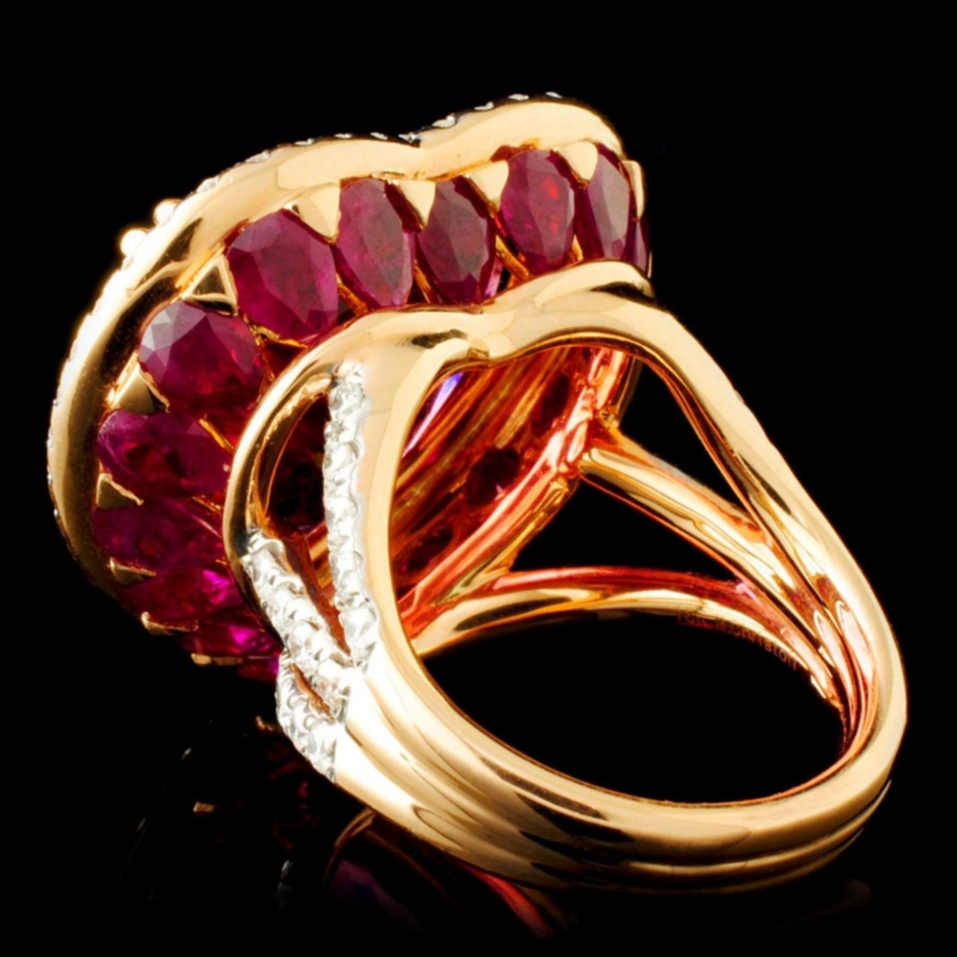 18K Gold 16.47ct Rubellite & 1.76ctw Diamond Ring - Image 4 of 6