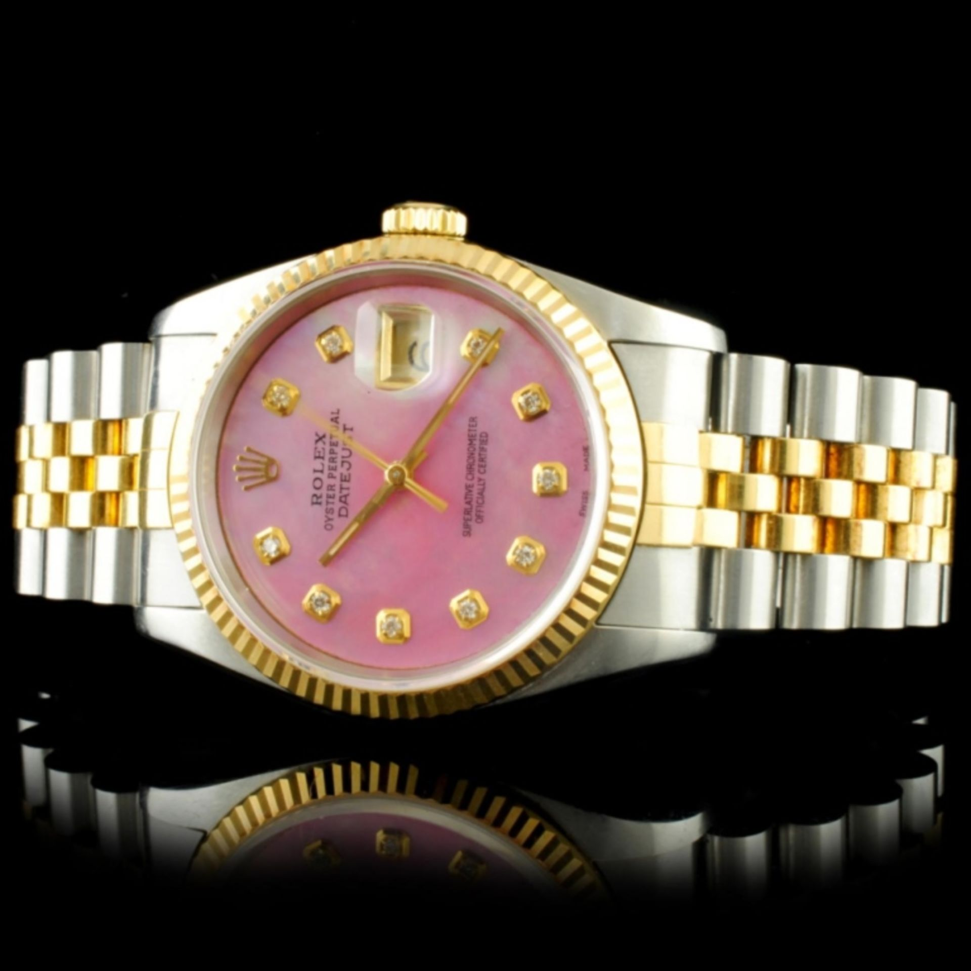 Rolex DateJust YG/SS Diamond 36MM Wristwatch - Image 2 of 5