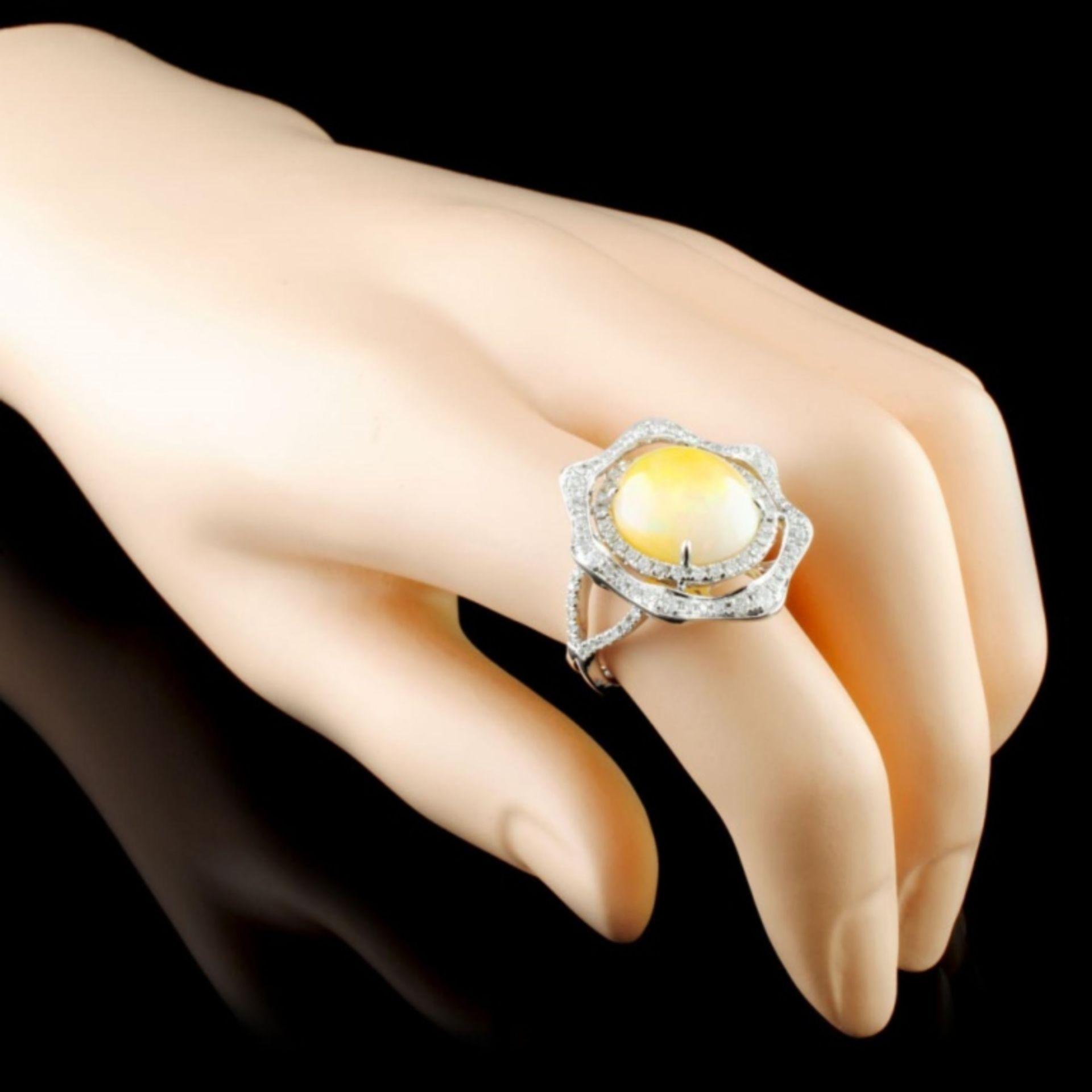 14K Gold 5.27ct Opal & 0.90ctw Diamond Ring - Image 3 of 4