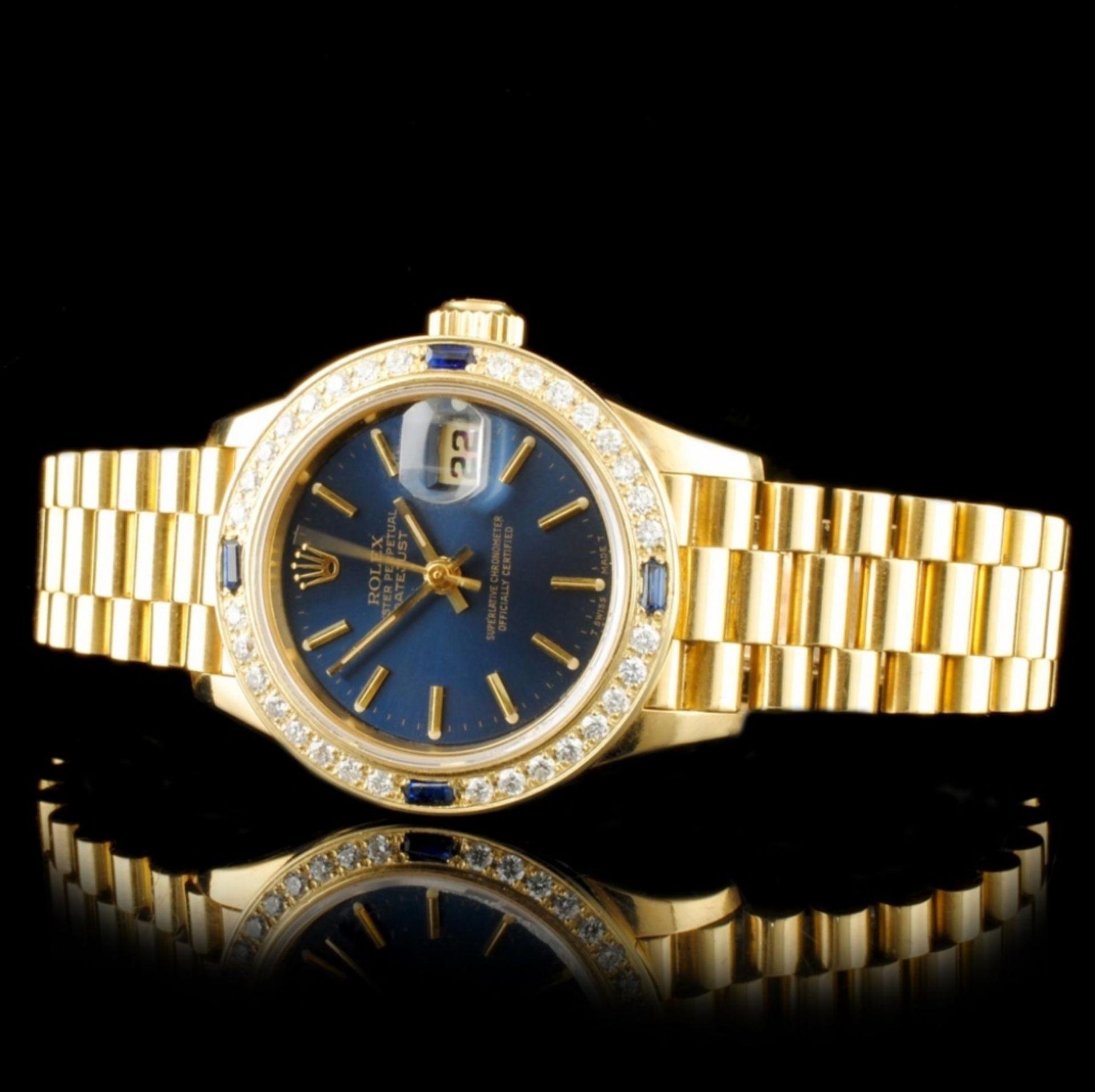 Rolex DateJust 18K YG Diamond 26MM Watch - Image 2 of 6