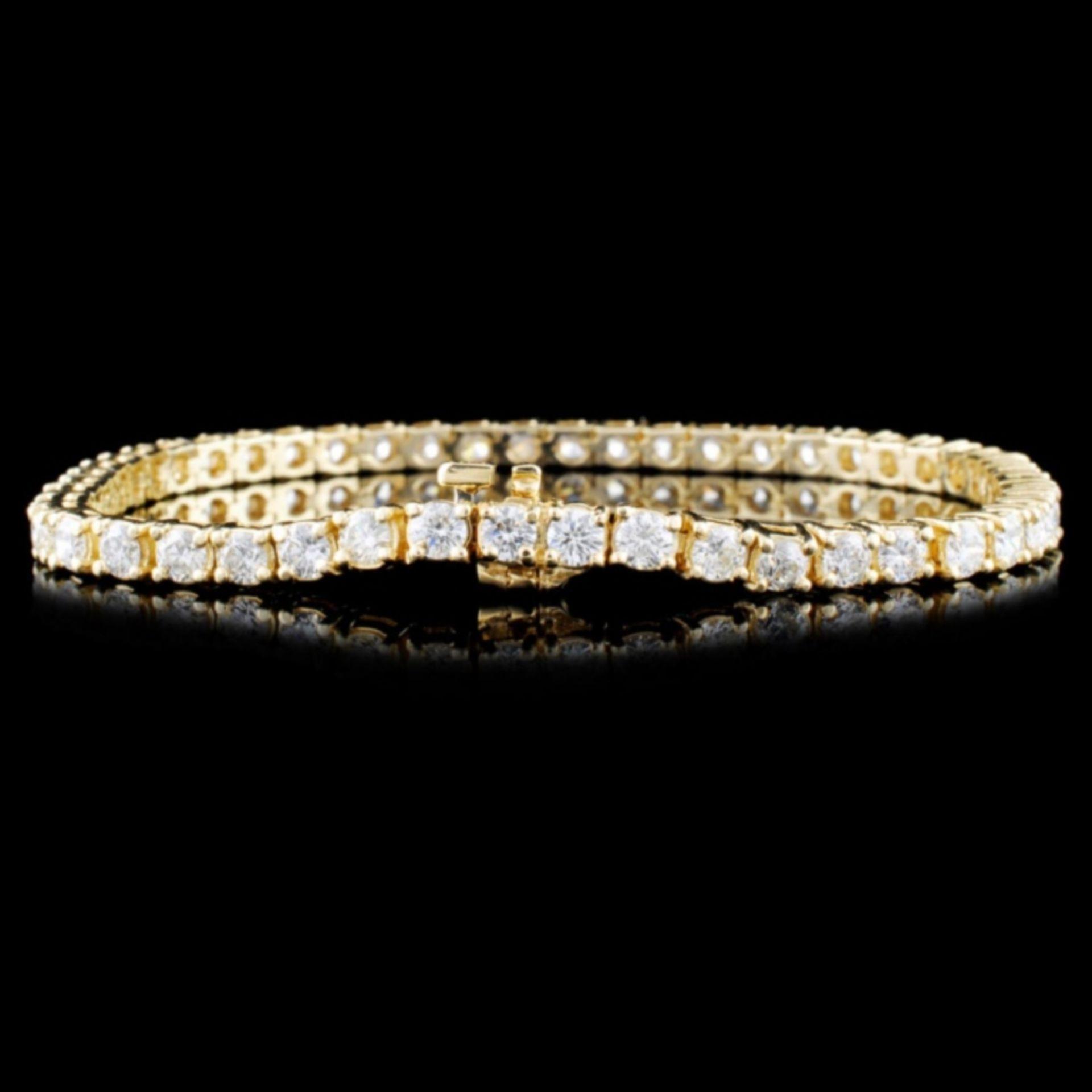 14K Gold 5.16ctw Diamond Bracelet - Image 2 of 3