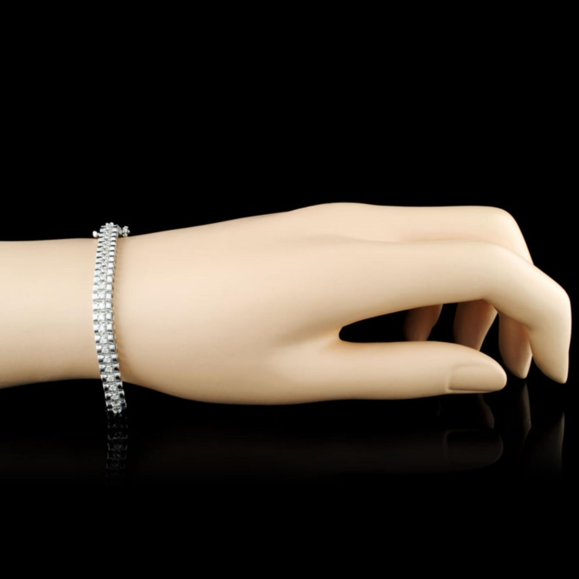 14K Gold 2.00ctw Diamond Bracelet - Image 3 of 4