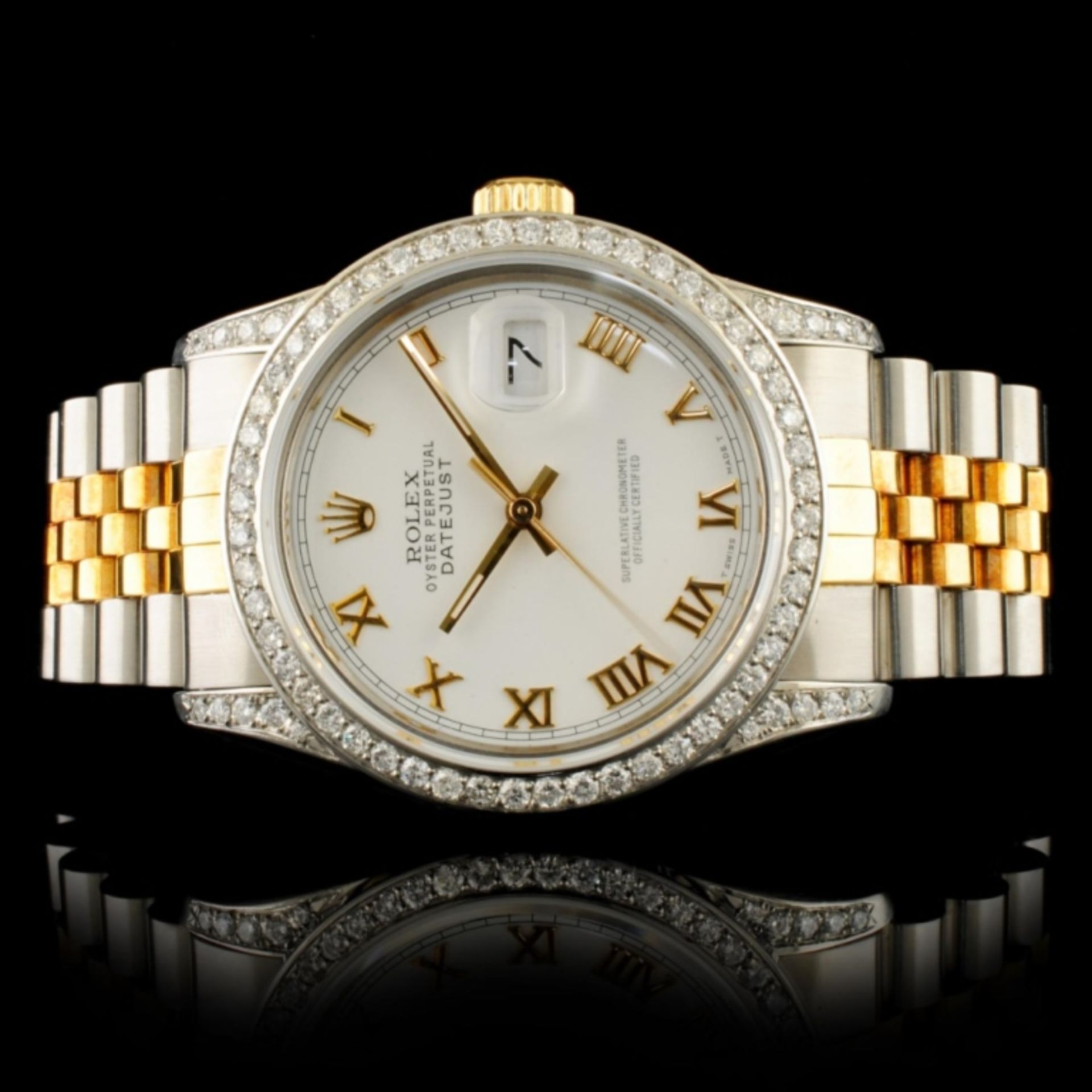 Rolex DateJust 1.50ctw Diamond 36MM Wristwatch
