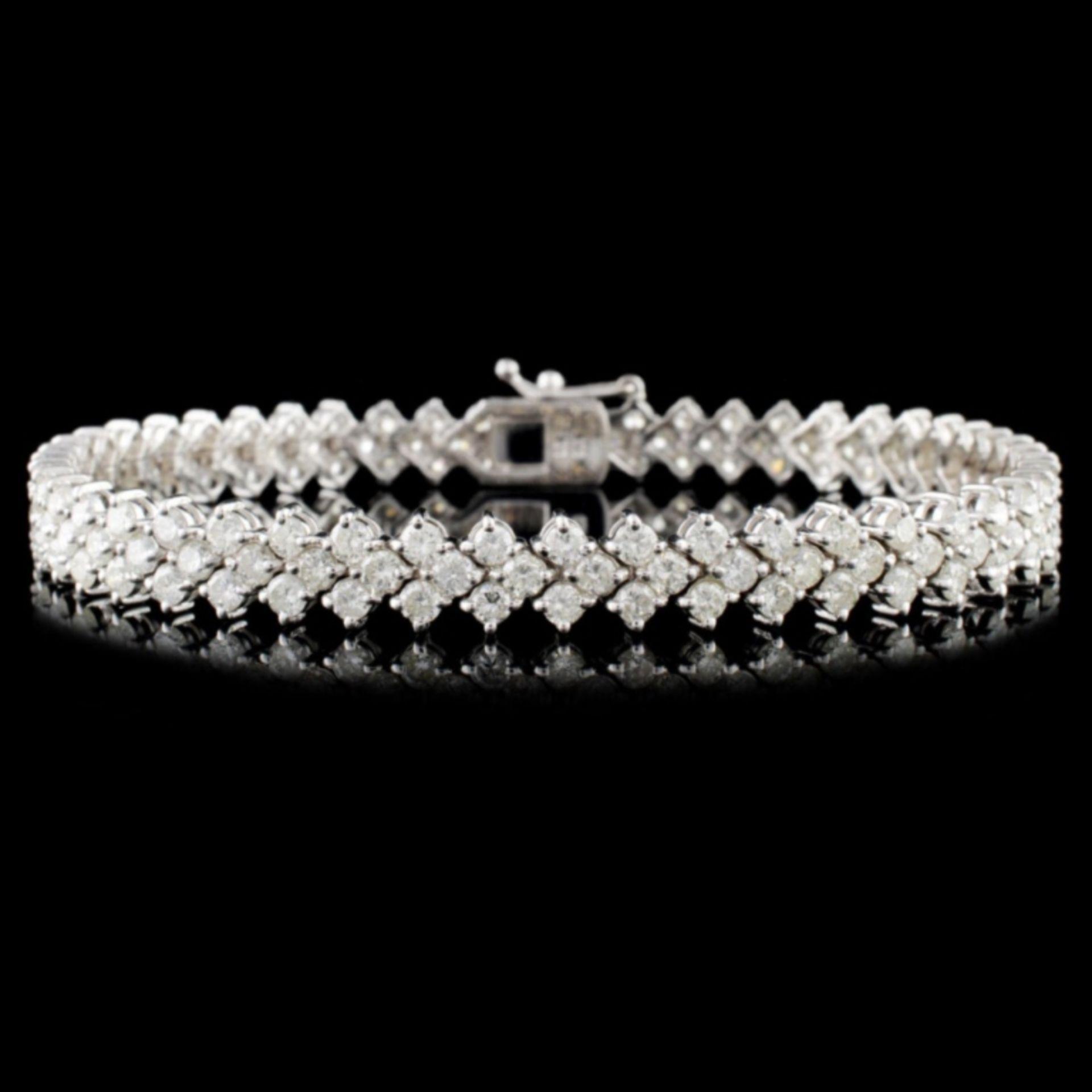 18K Gold 6.00ctw Diamond Bracelet