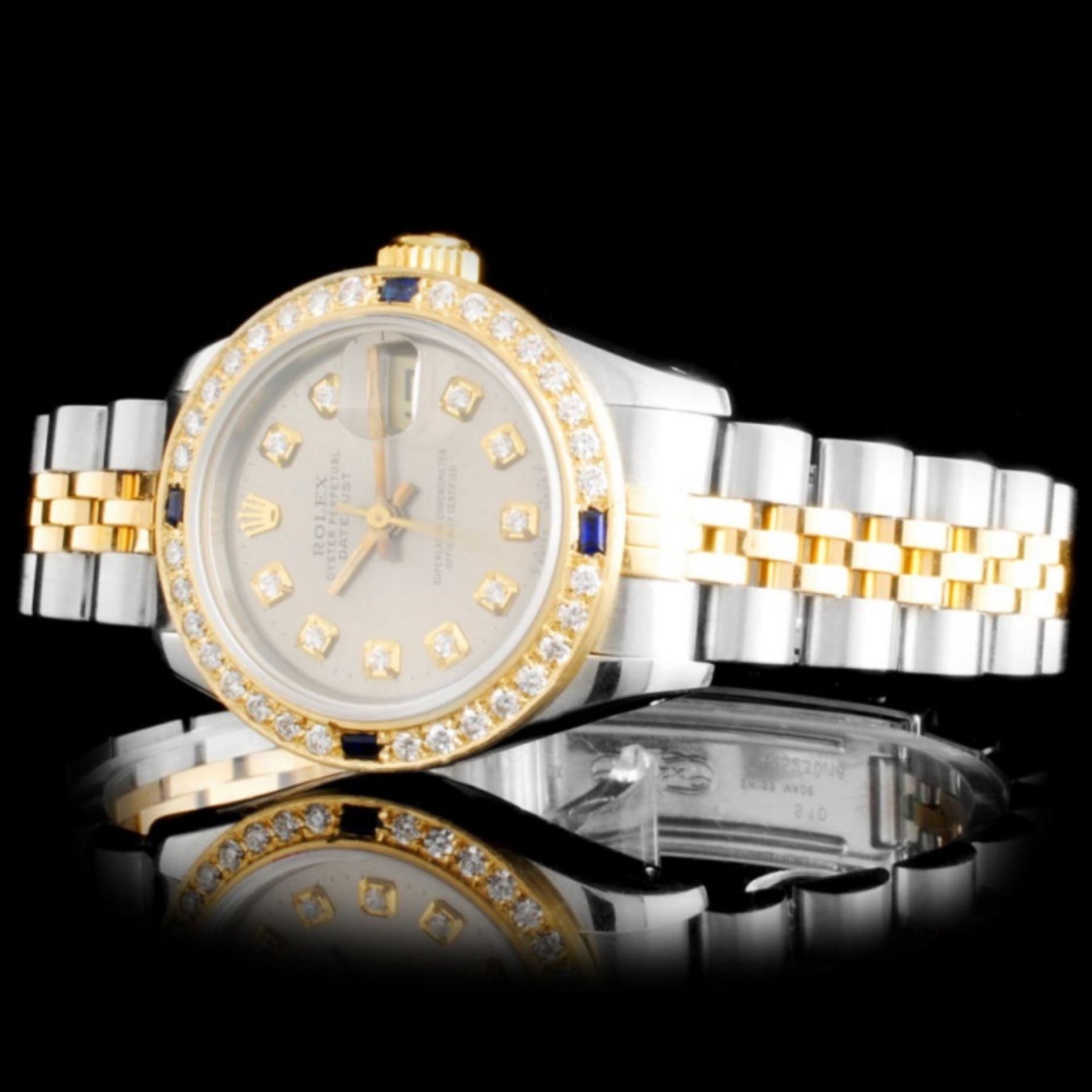 Rolex YG/SS DateJust Ladies Diamond Watch - Image 2 of 5