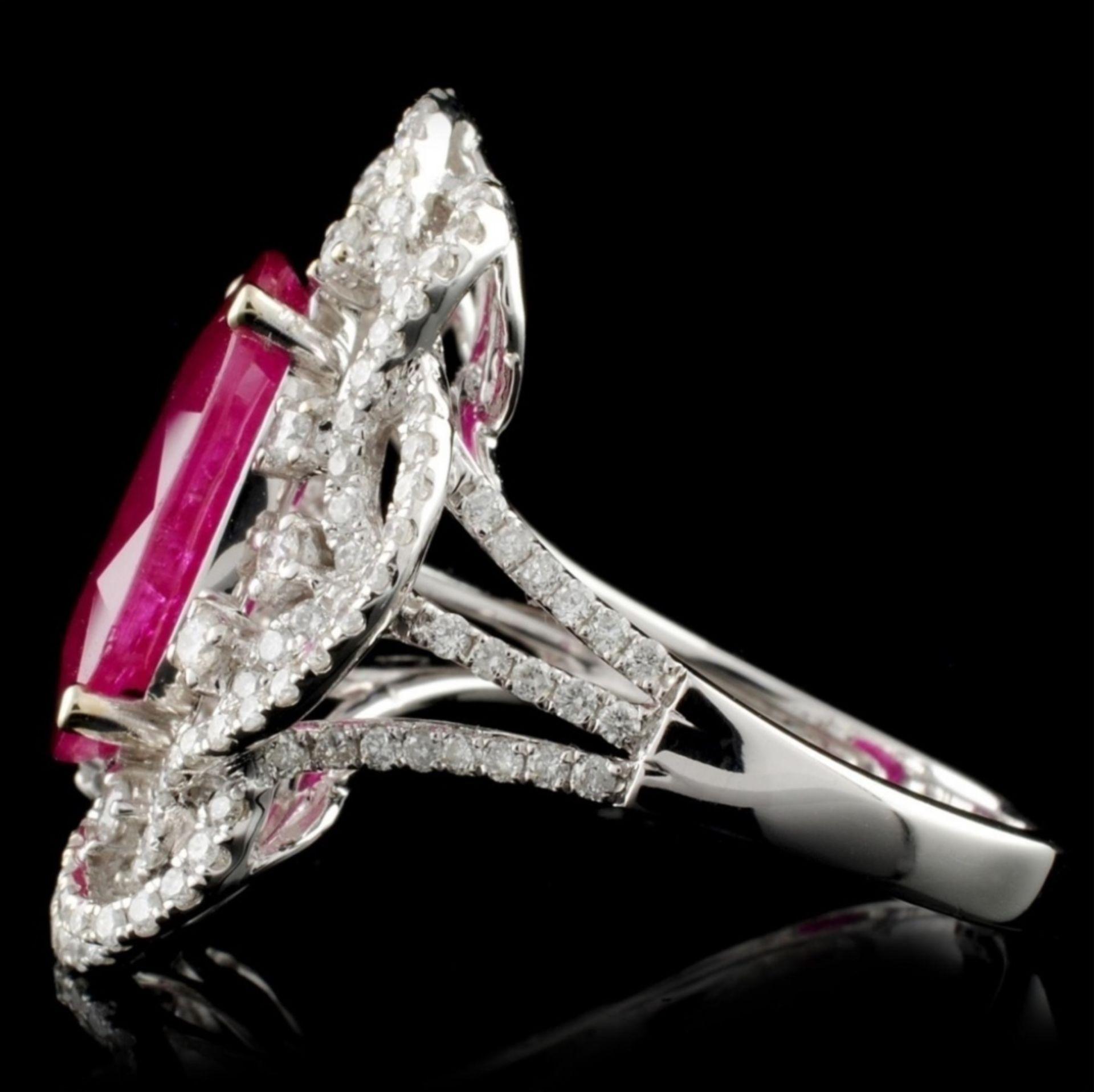 18K White Gold 6.03ct Ruby & 0.96ct Diamond Ring - Image 3 of 4
