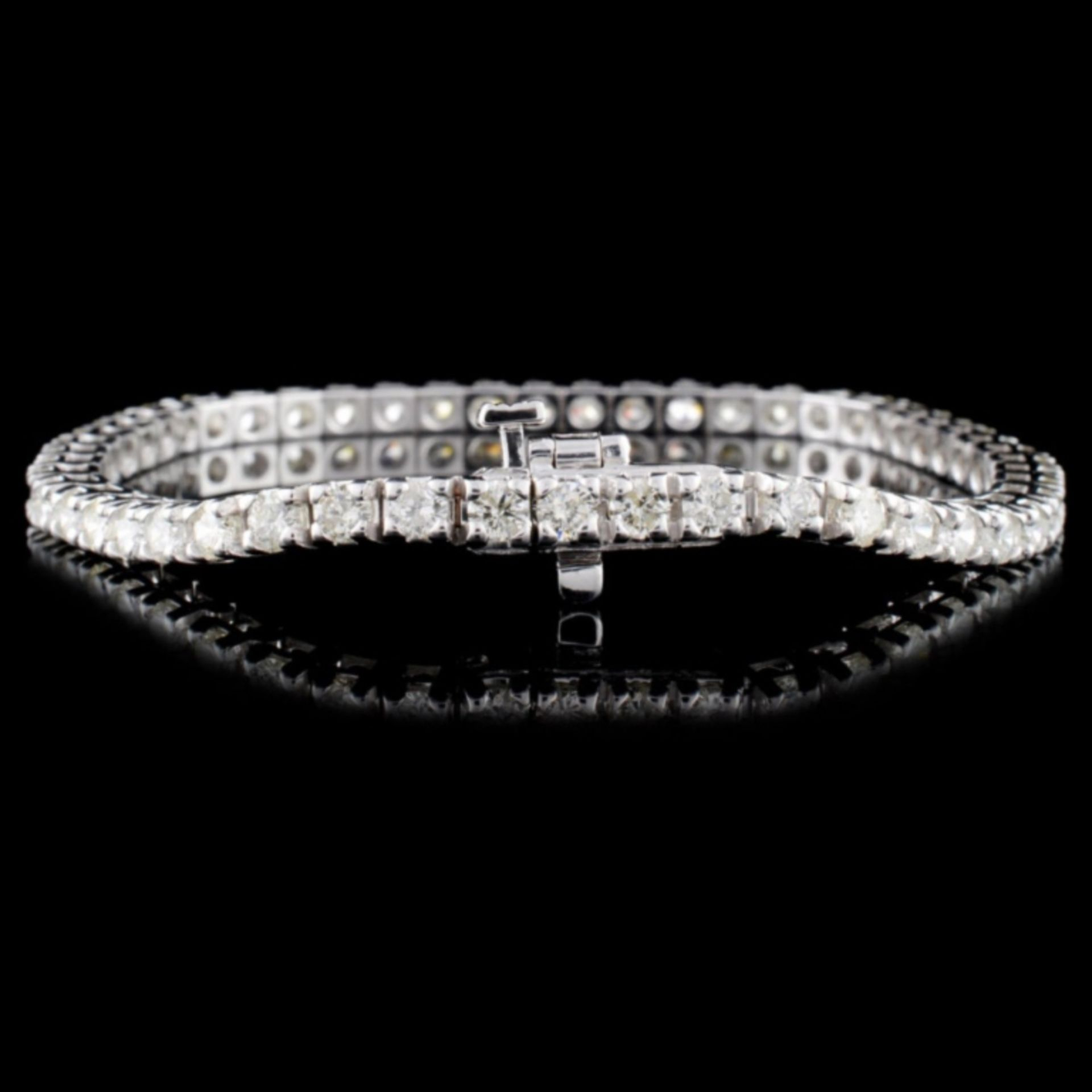 14K White Gold 4.00ctw Diamond Bracelet - Image 2 of 3