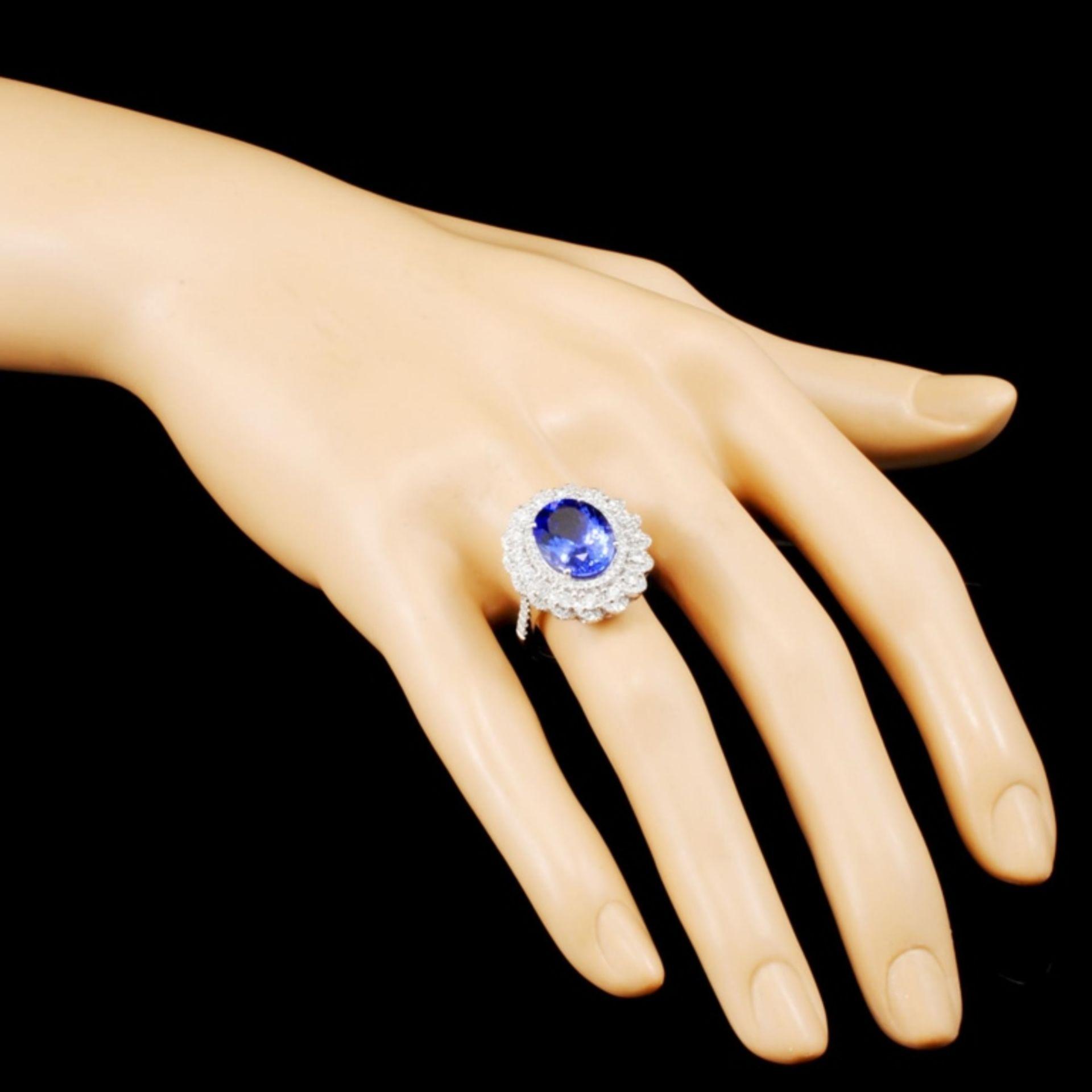 18K Gold 4.92ct Tanzanite & 1.07ctw Diamond Ring - Image 3 of 5